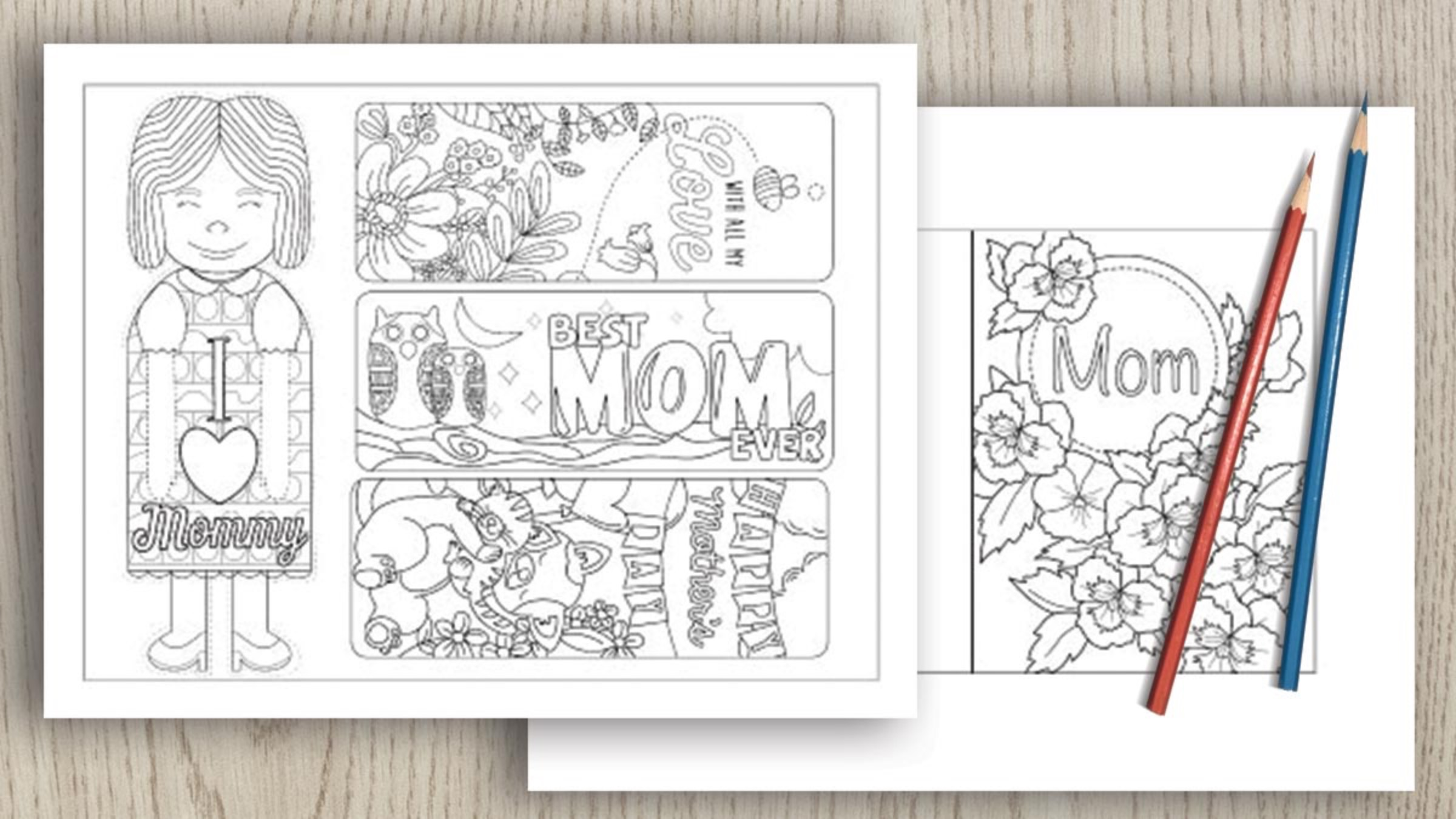 Printable Mother's Day Cards & Crafts