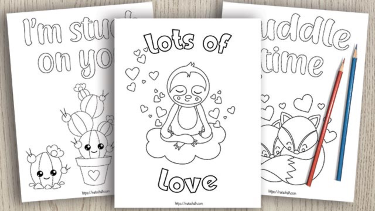 Valentine's Coloring Pages for Kids