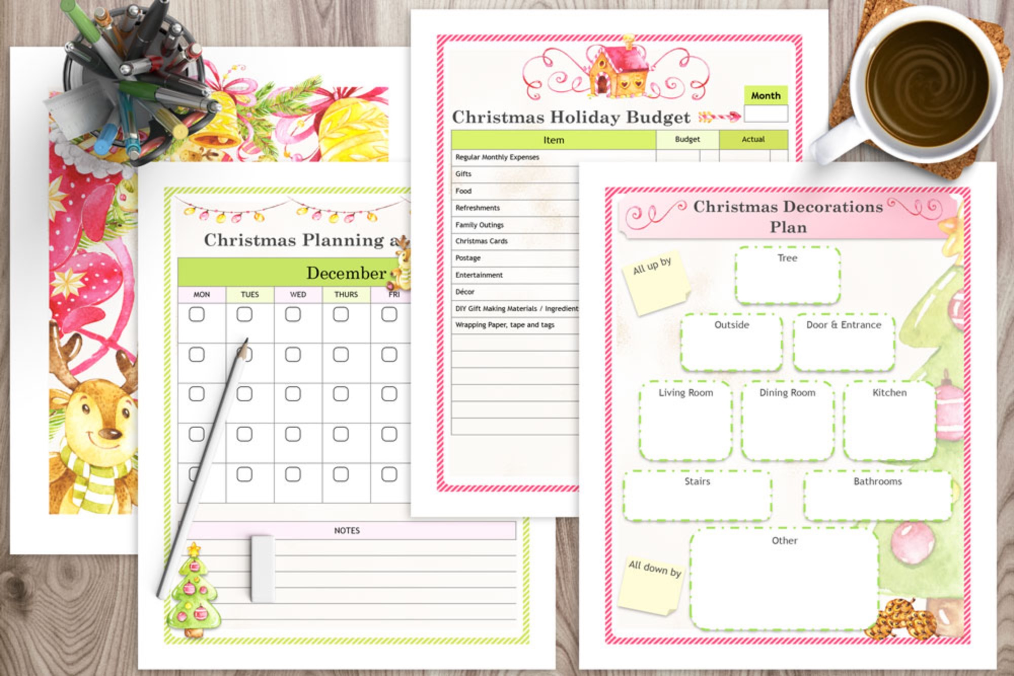 Ultimate Christmas Planner - Color & Black and White Versions