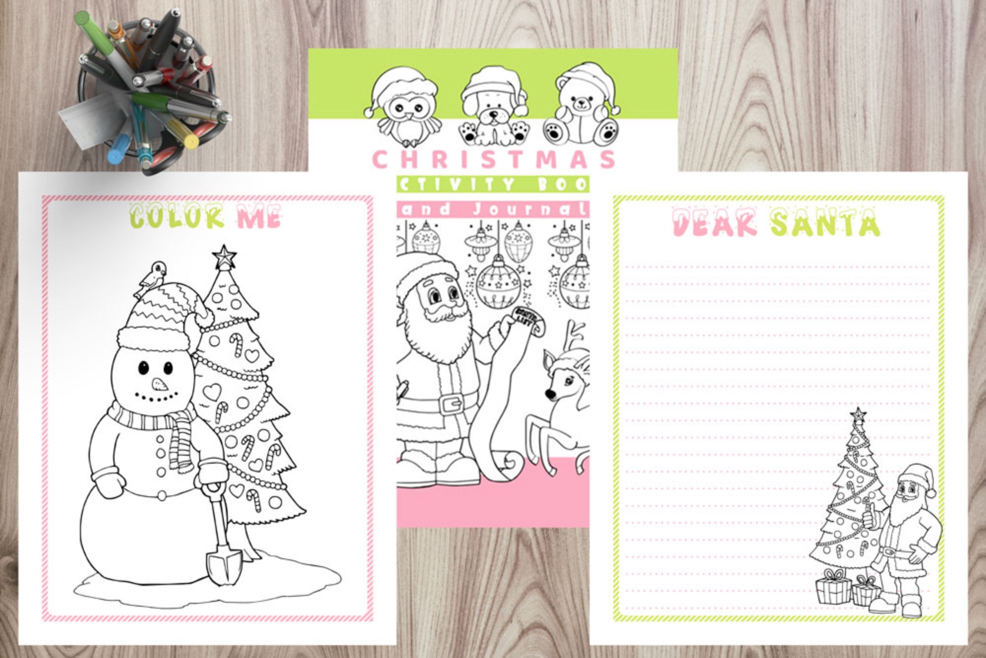 Kid's Holiday Journal & Activity Book