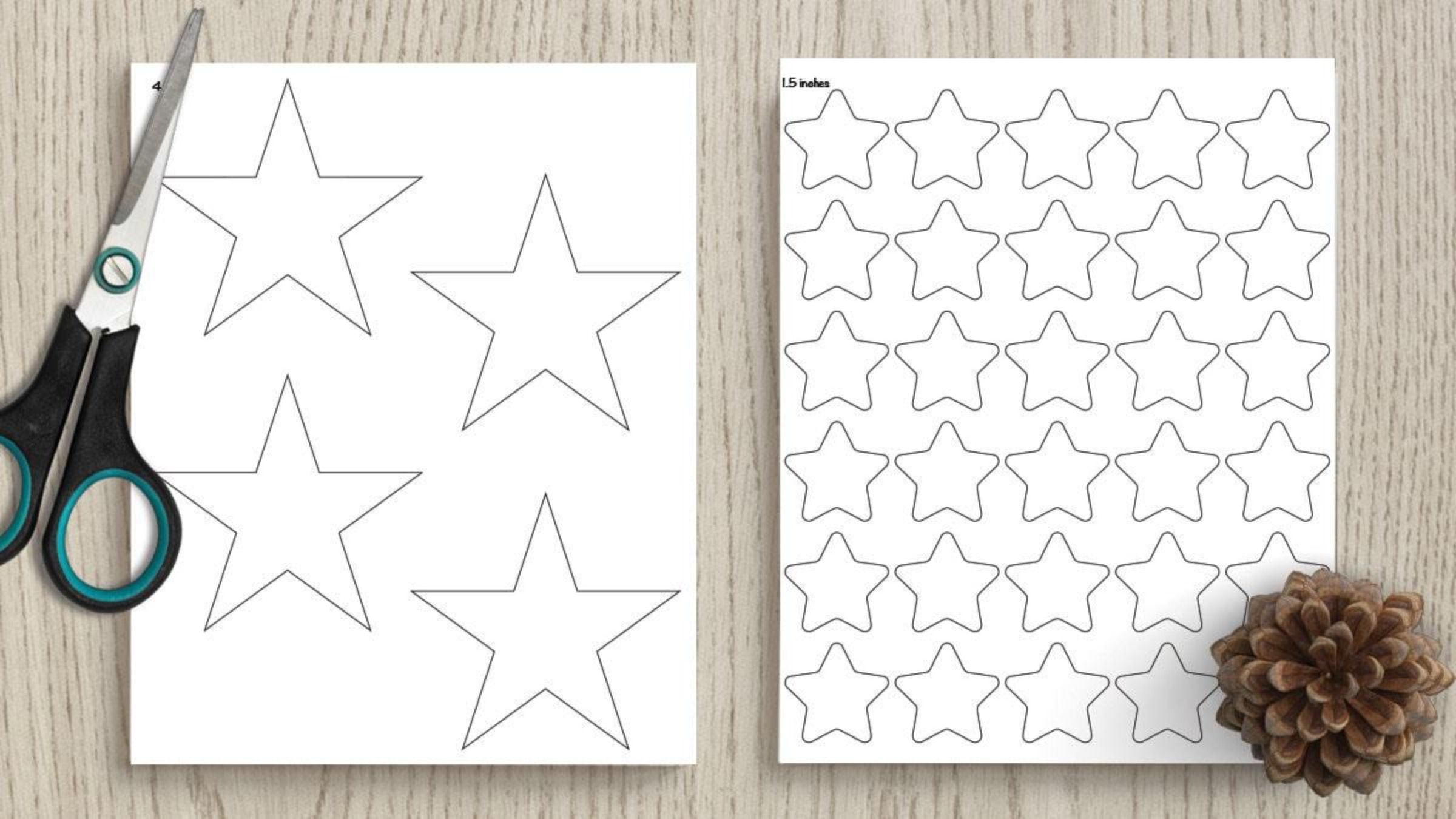 Star Template Printables from 1