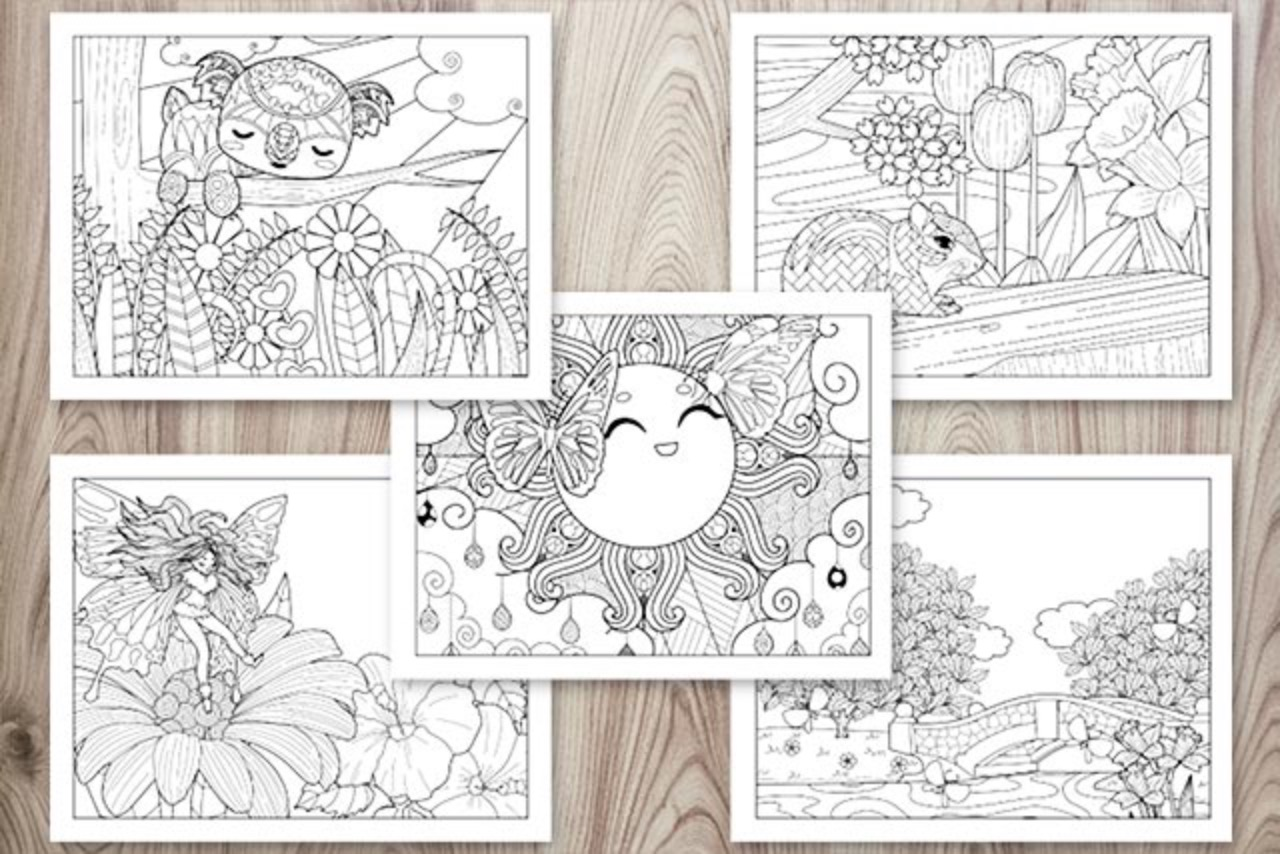 Spring Coloring Book - Adult Coloring Pages for Spring