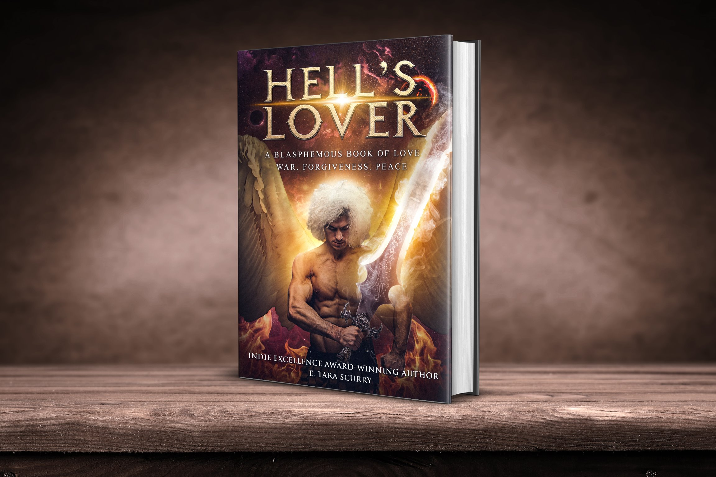 Hell's Lover Signed Paperback w/Large Metallic Bookmark