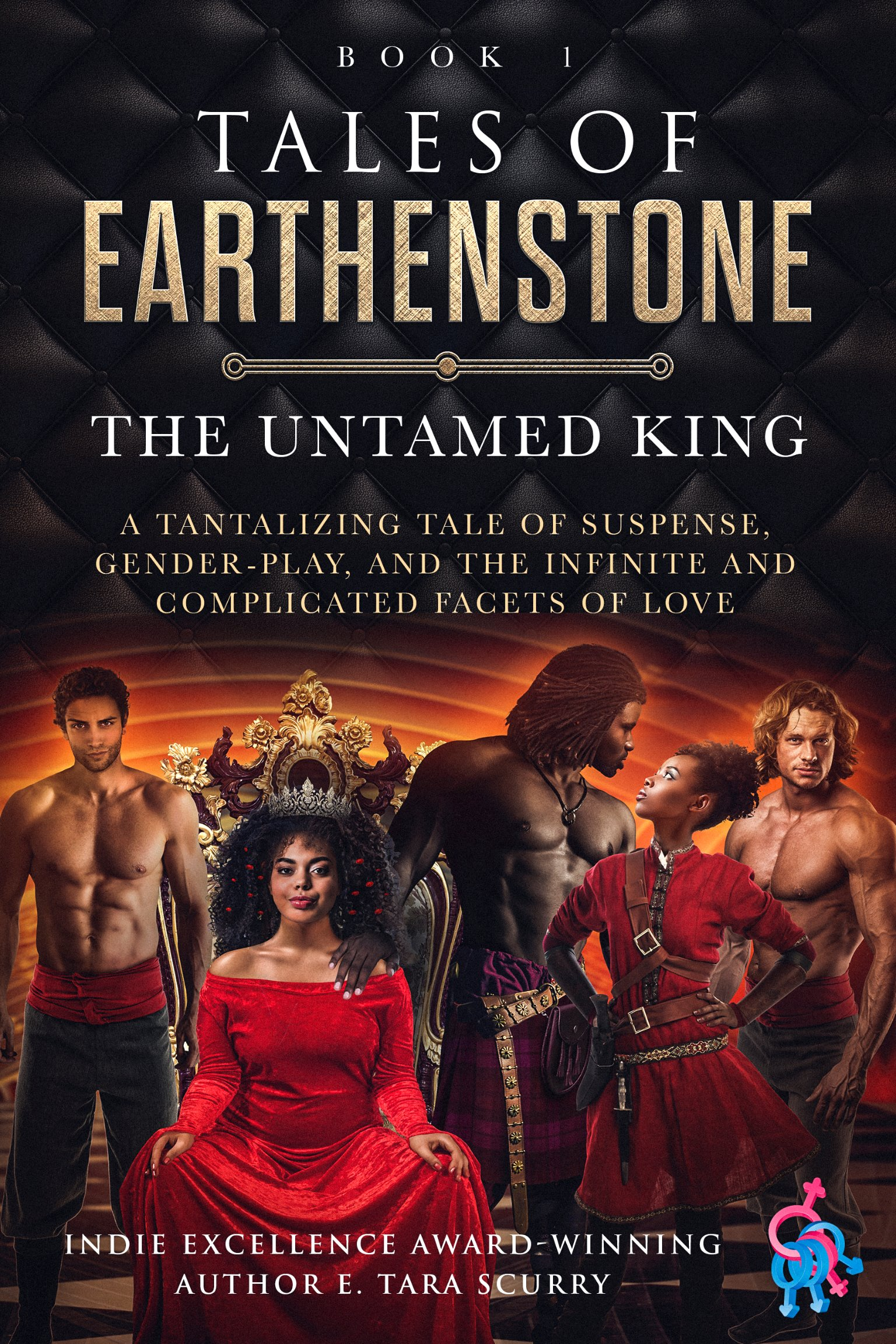 TOE: Book 1 -  The Untamed King,  Signed Paperback w/ Large Luxury Metallic Bookmark