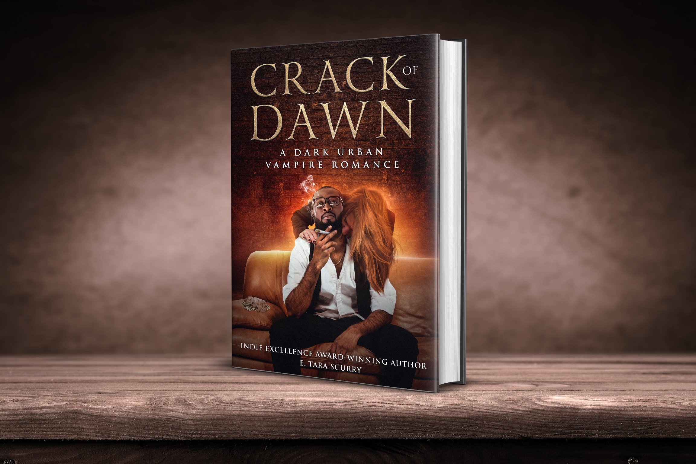Crack of Dawn Signed Paperback w/ Large Luxury Metallic Bookmark