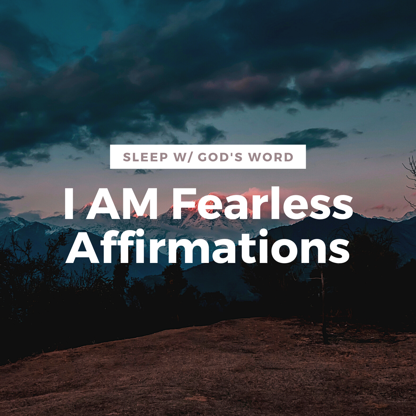I AM FEARLESS Affirmations - Defeat Anxious Thoughts (While You Sleep)