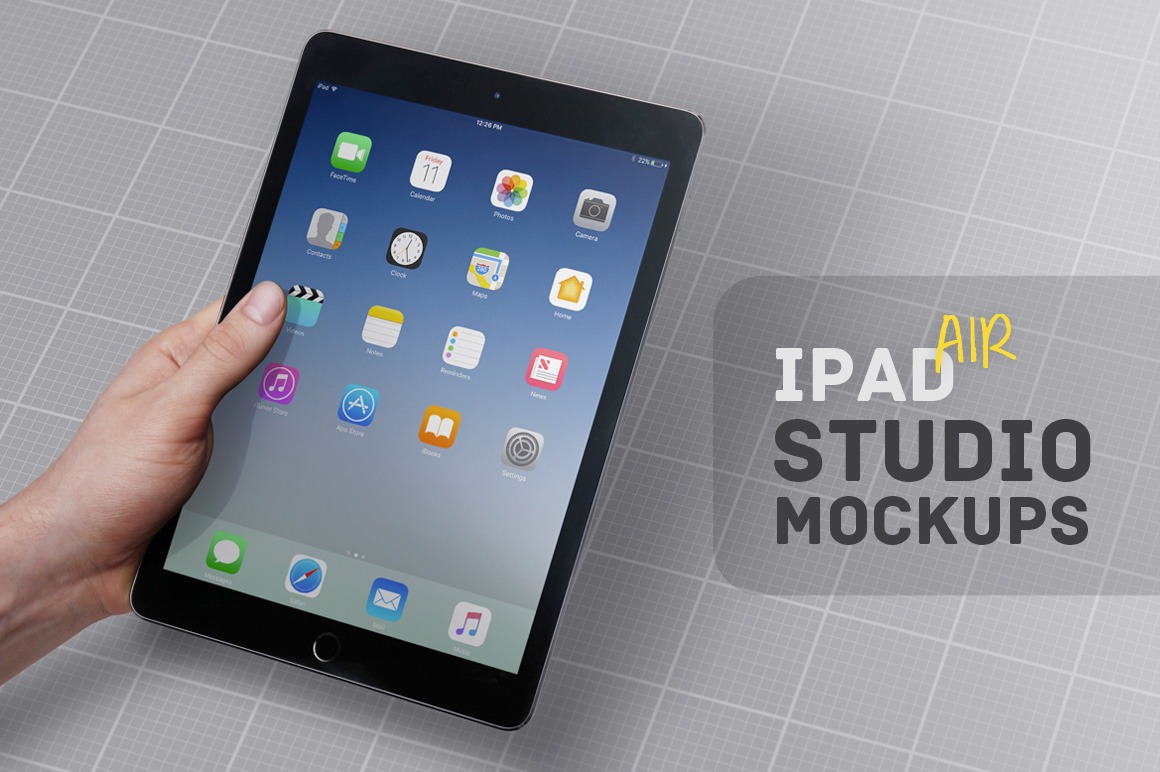 iPad Air Studio Mockups