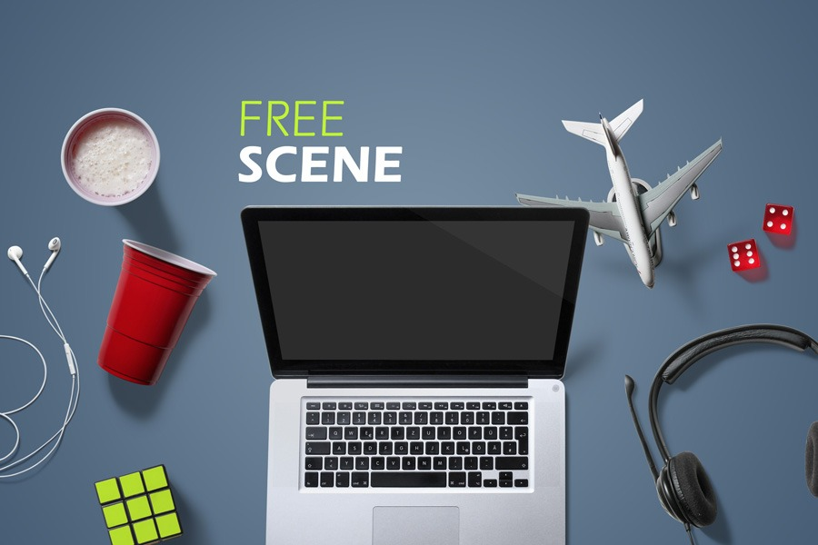 Free Entertainment Mockup Scene