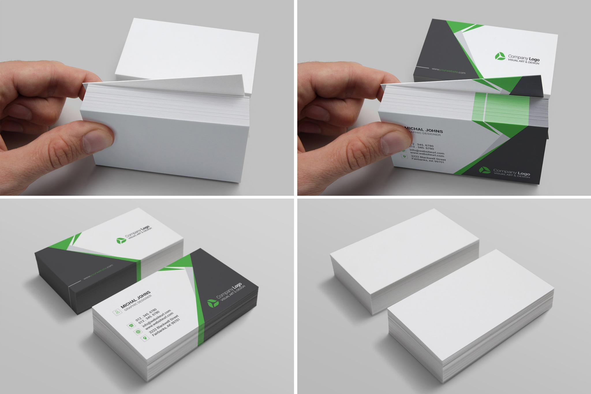 Realistic Business Card Mockups