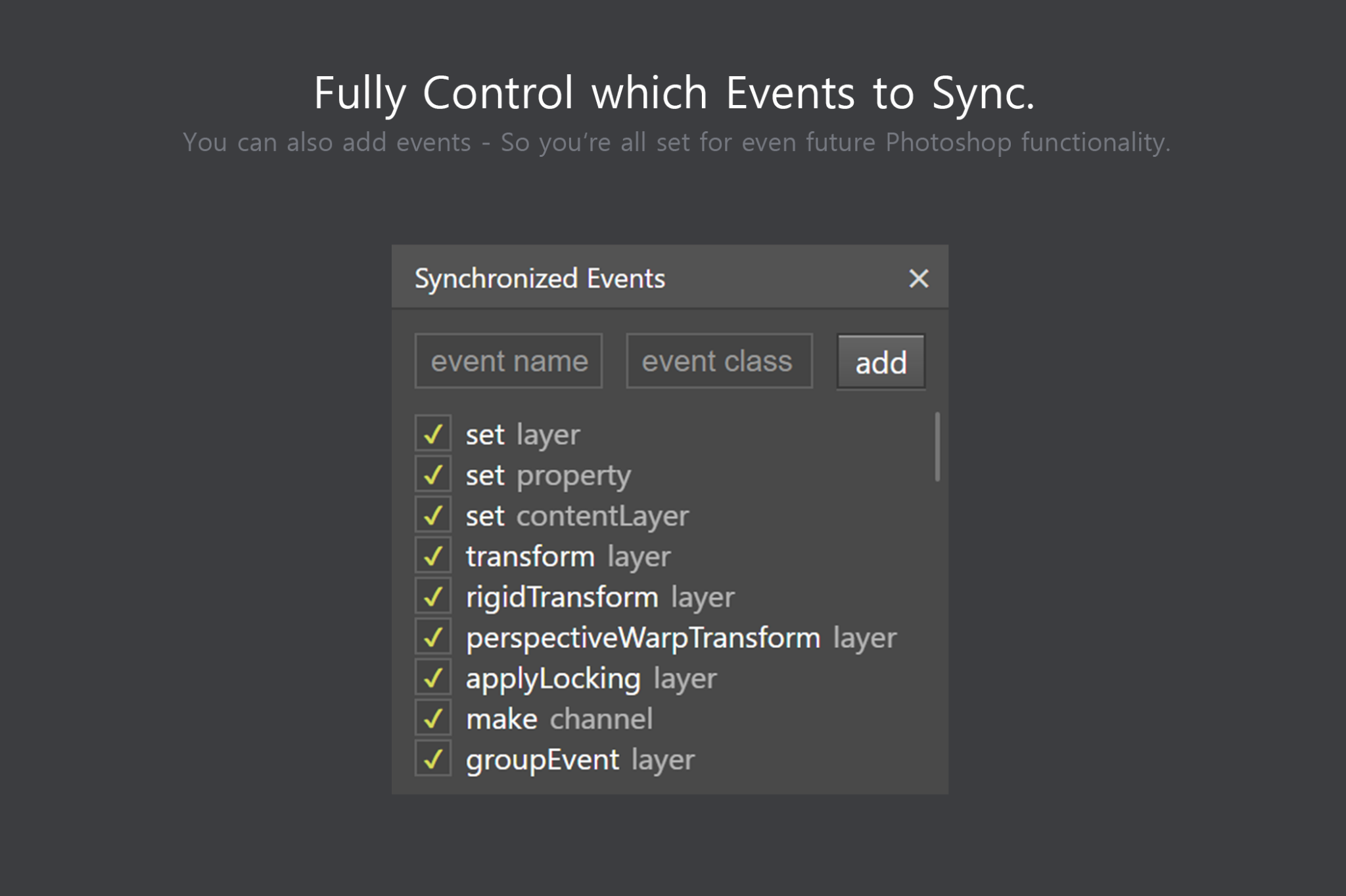 Sync Edit - Layer Synchronize Kit