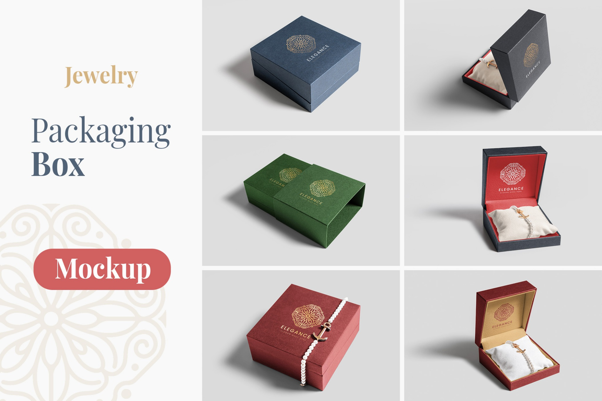 Jewelry Packaging Box Mockups