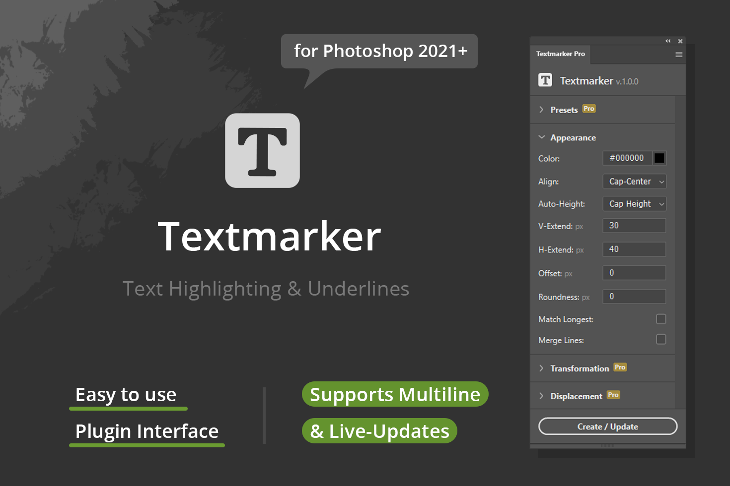 Textmarker for PS 2021+