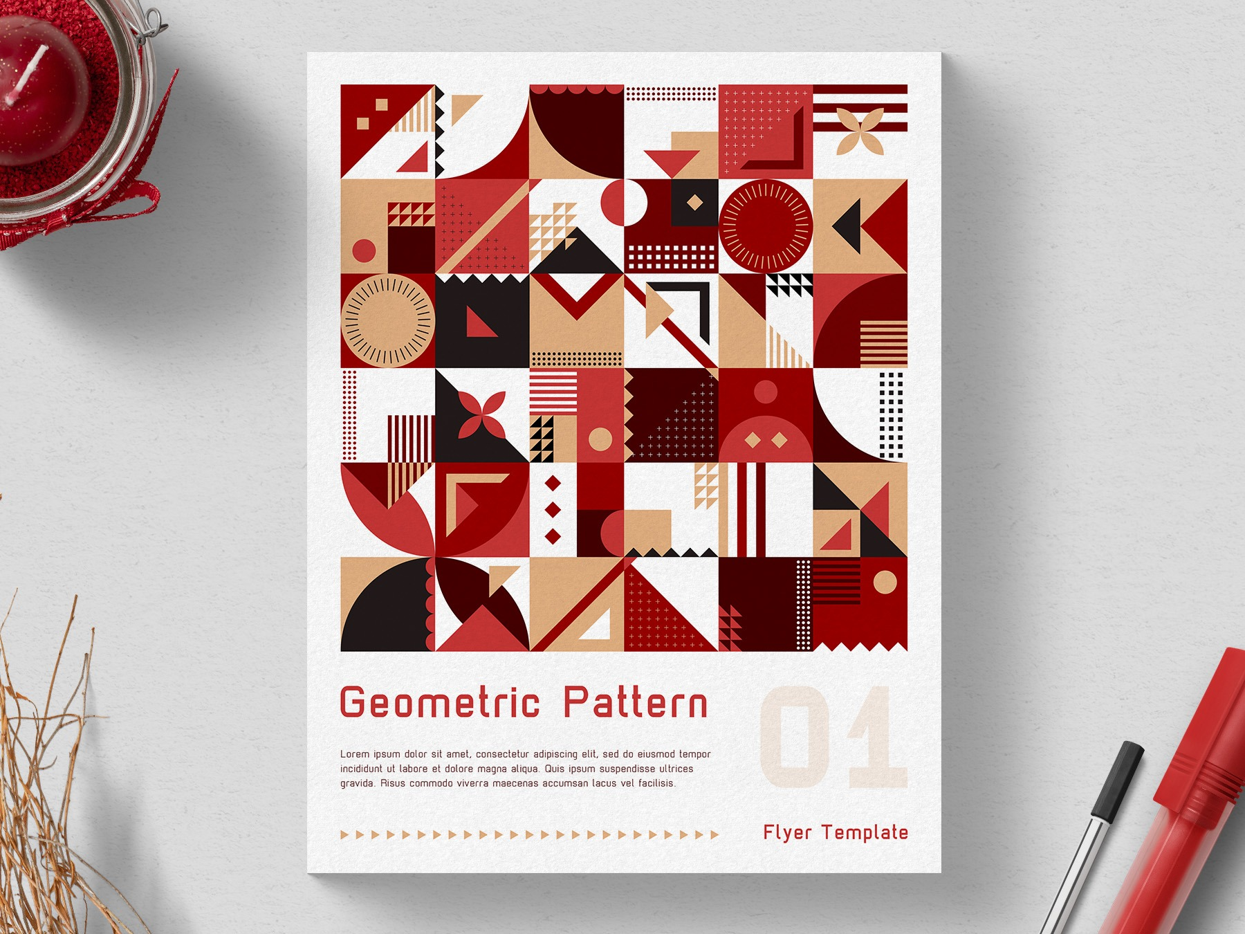 Free Flyer Template - Geometric Pattern