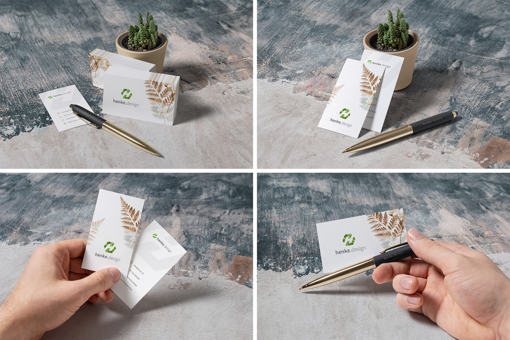 4 Free Business Card Mockups