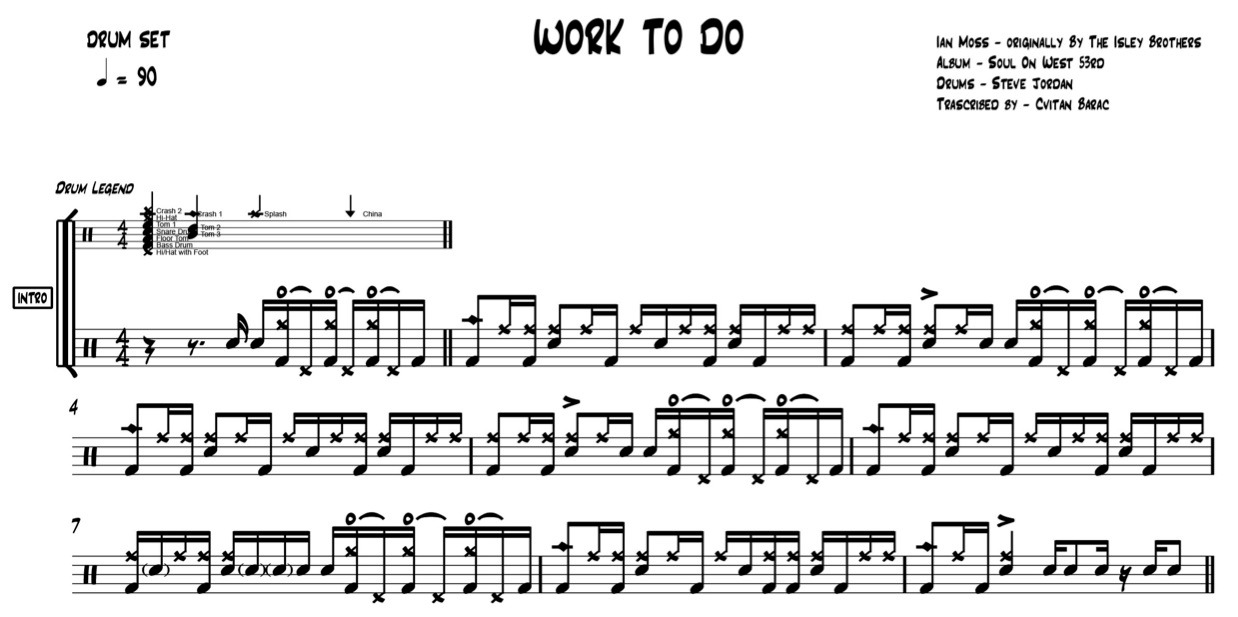 Work To Do - Ian Moss - Featuring Steve Jordan Drums - Isley Brothers
