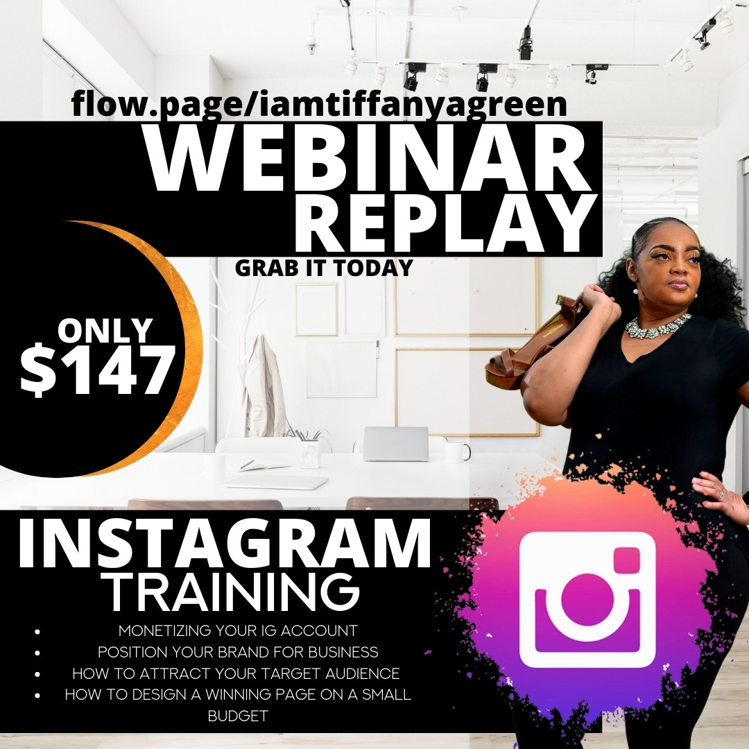 INSTAGRAM TRAINING WEBINAR