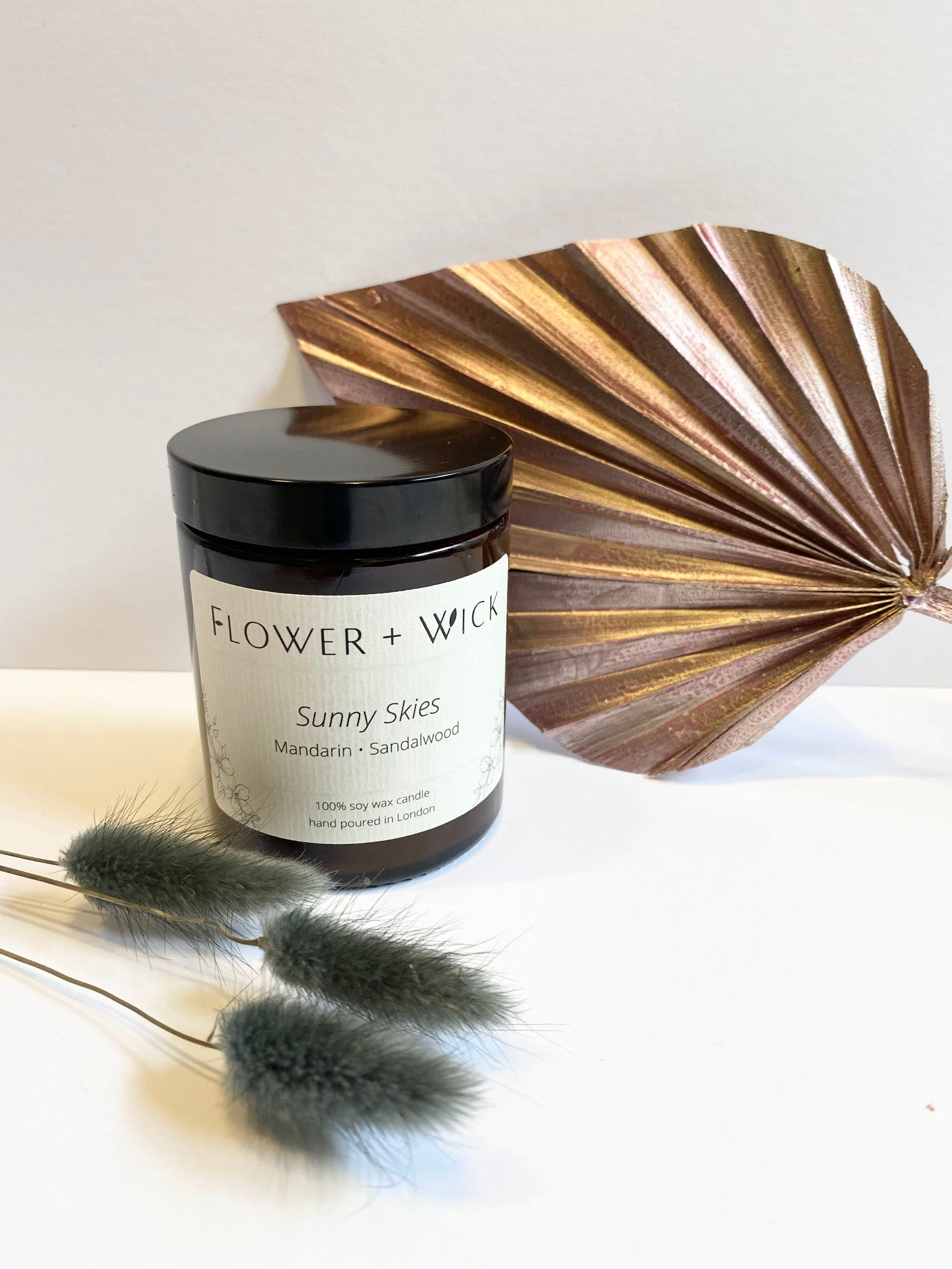 Flower + Wick: Sunny Skies scented soy candle