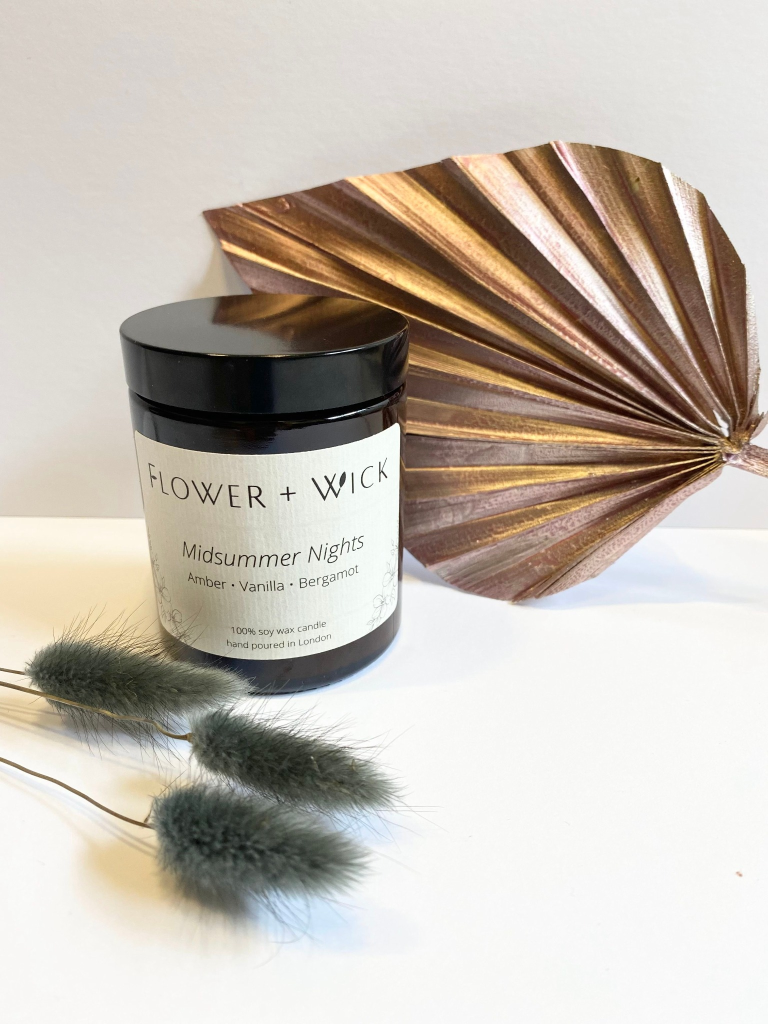 Flower + Wick: Midsummer Nights scented soy candle