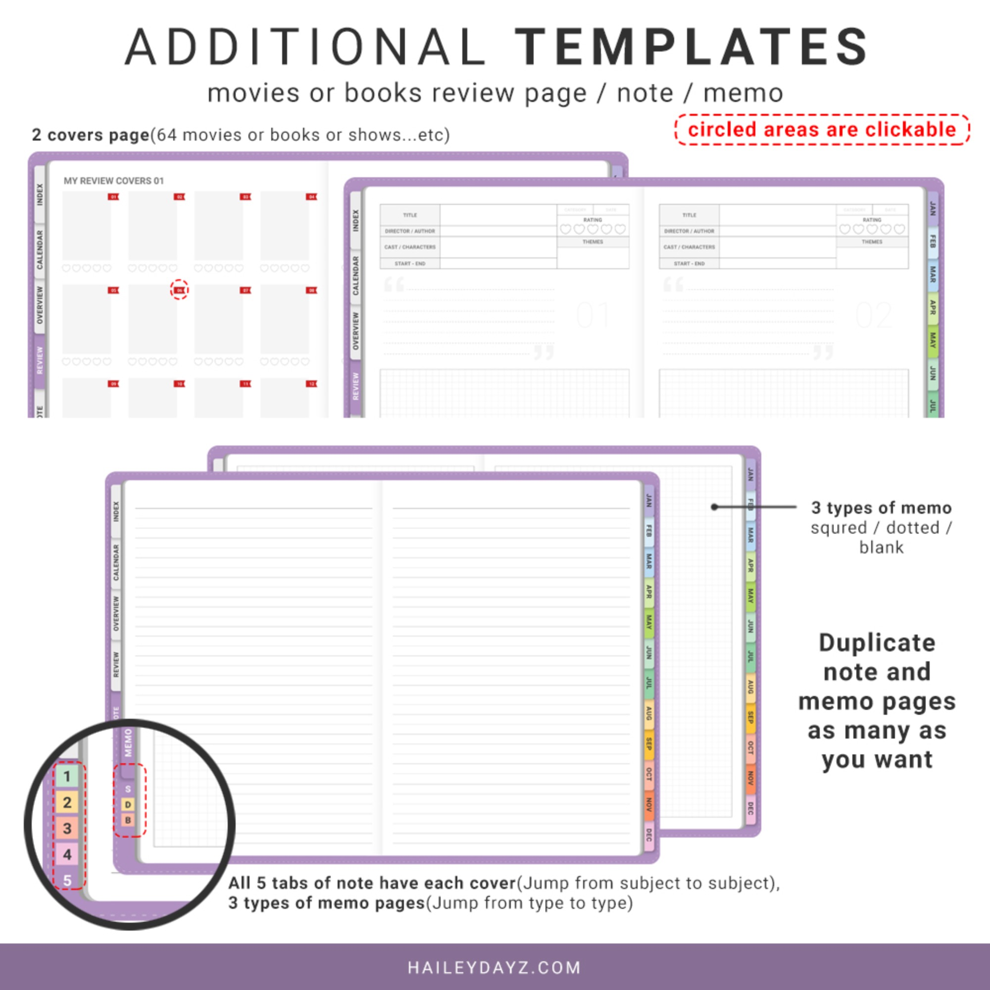 2021 Daily Planner(Lavender)