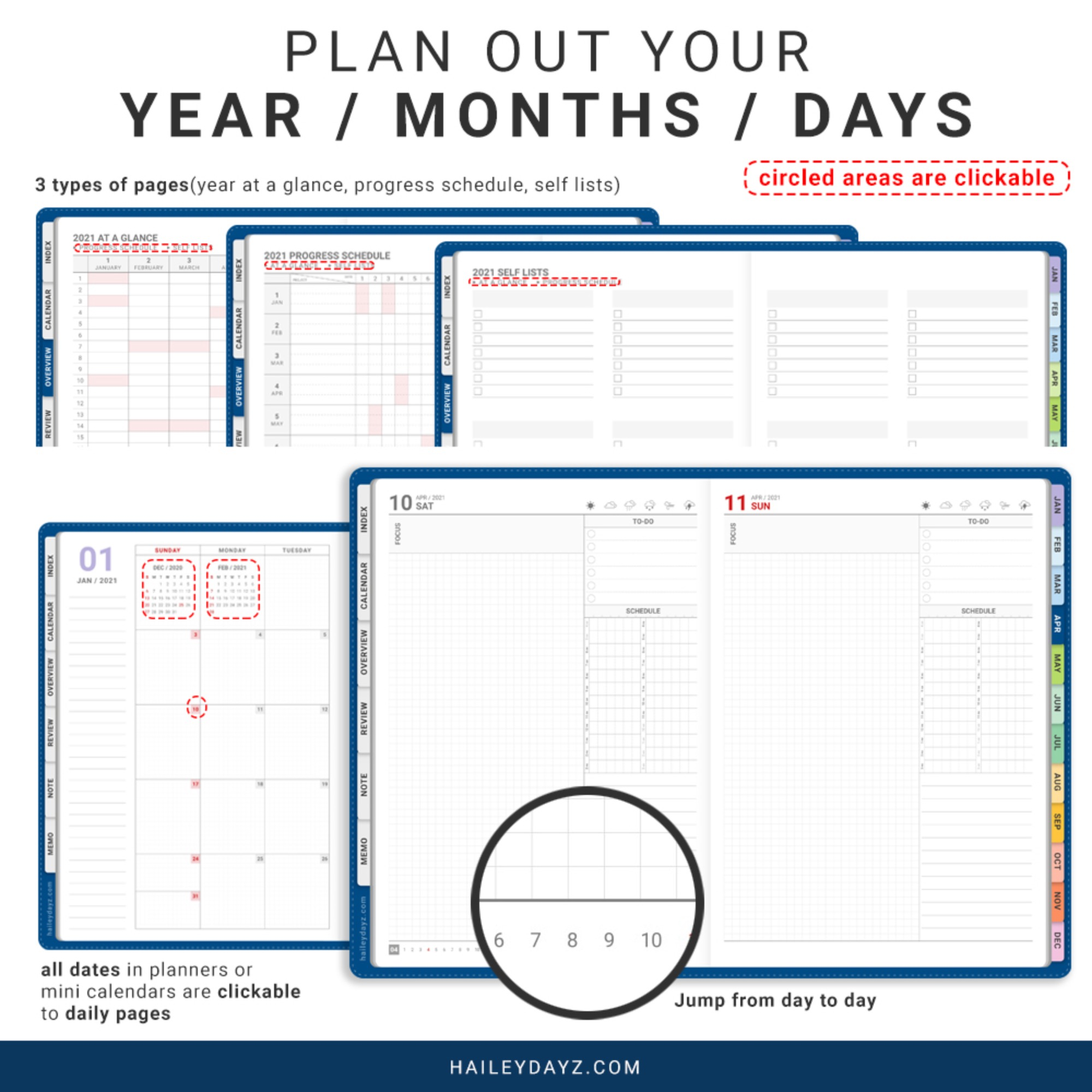 2021 Daily Planner(Blue)