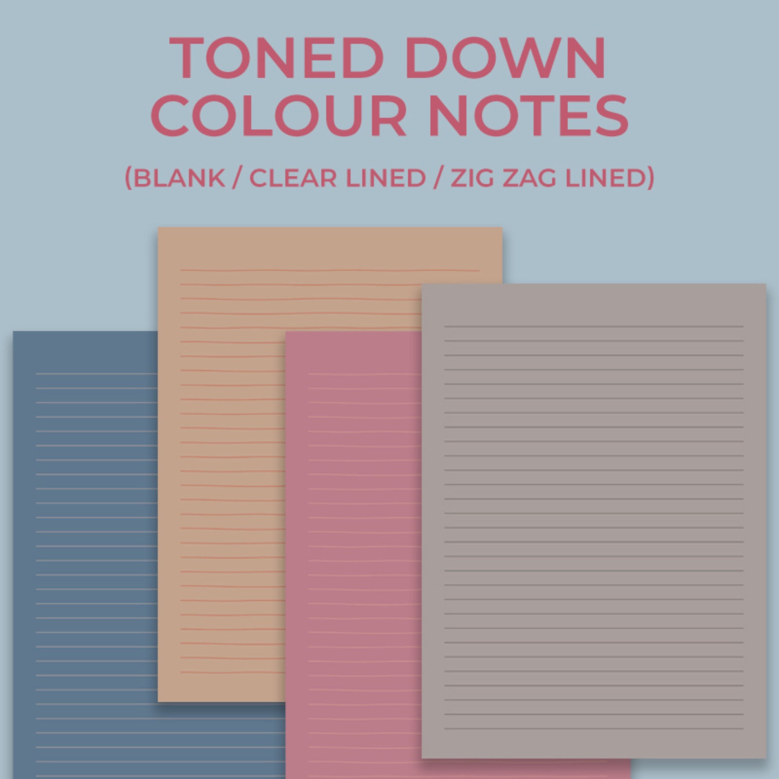 Toned down colour notes