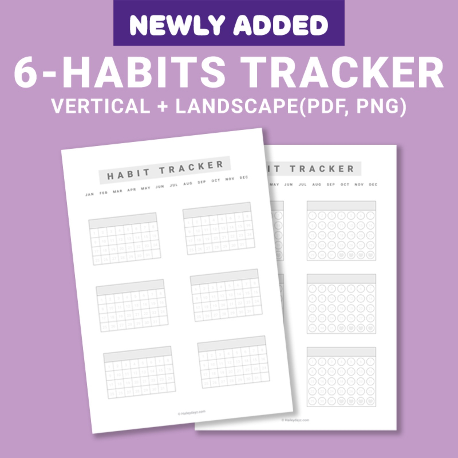Digital habit tacker template(A4 size)