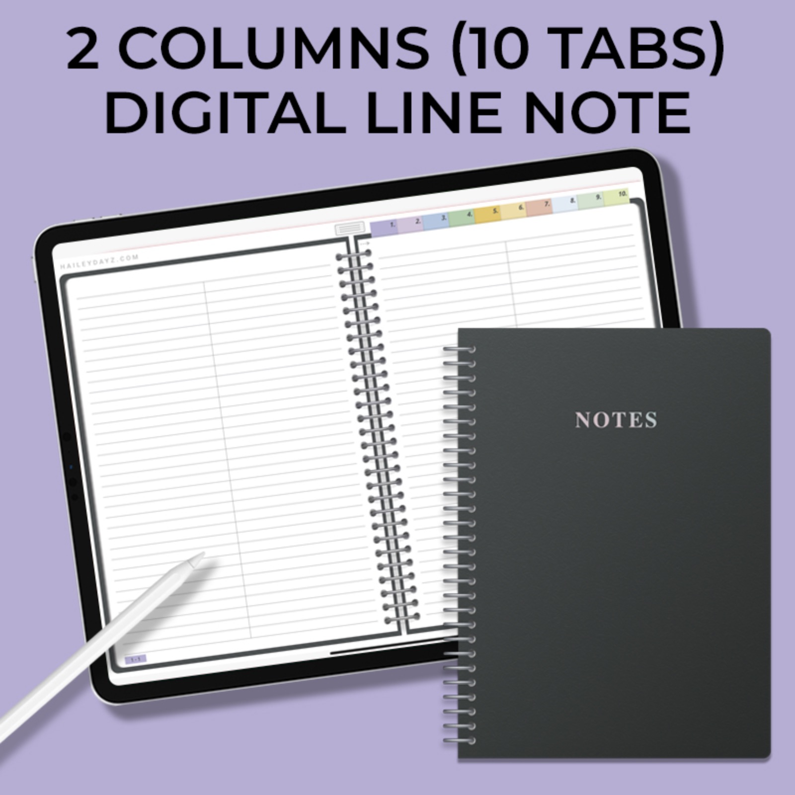 2 Columns Digital Line Note