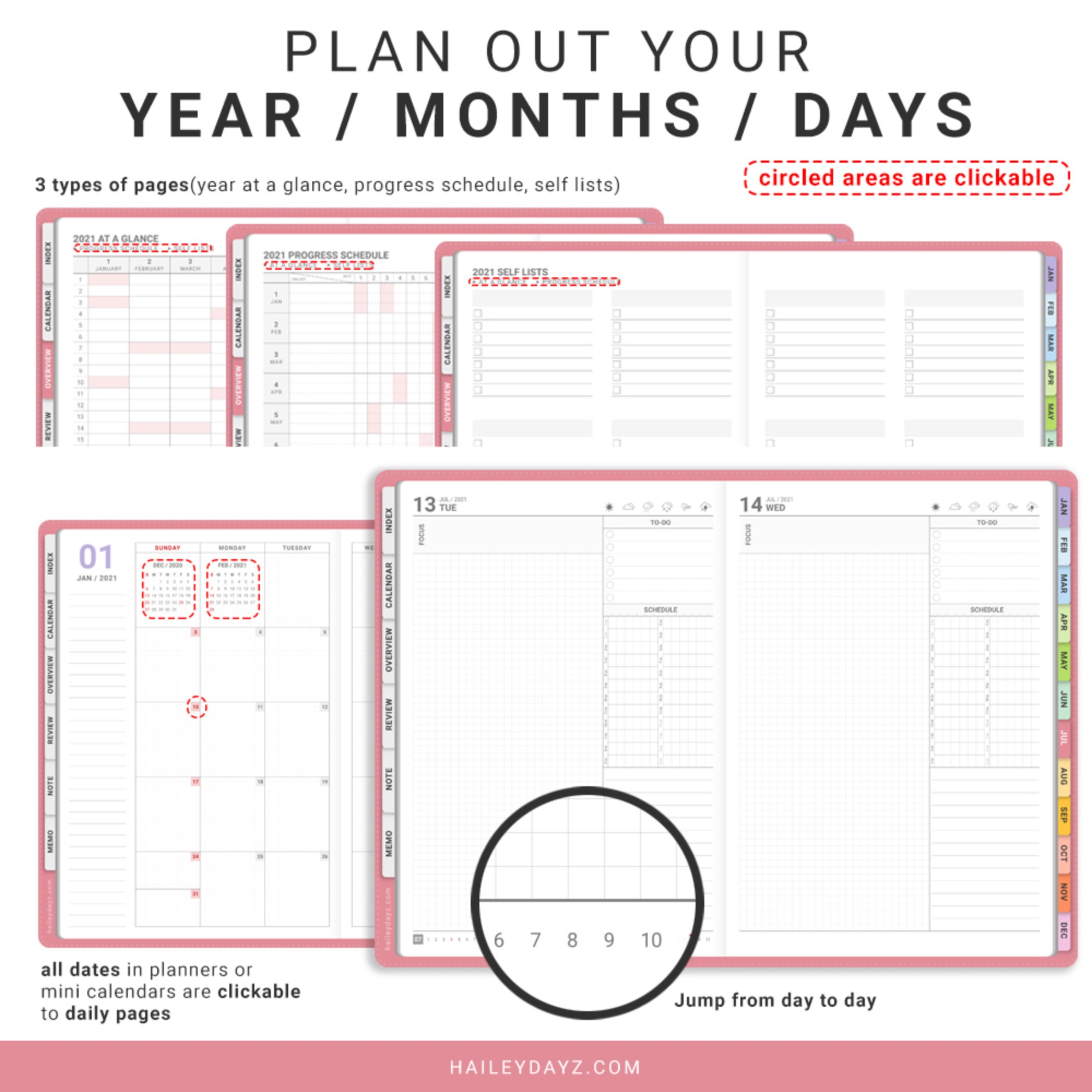 2021 Daily Planner(Pink)
