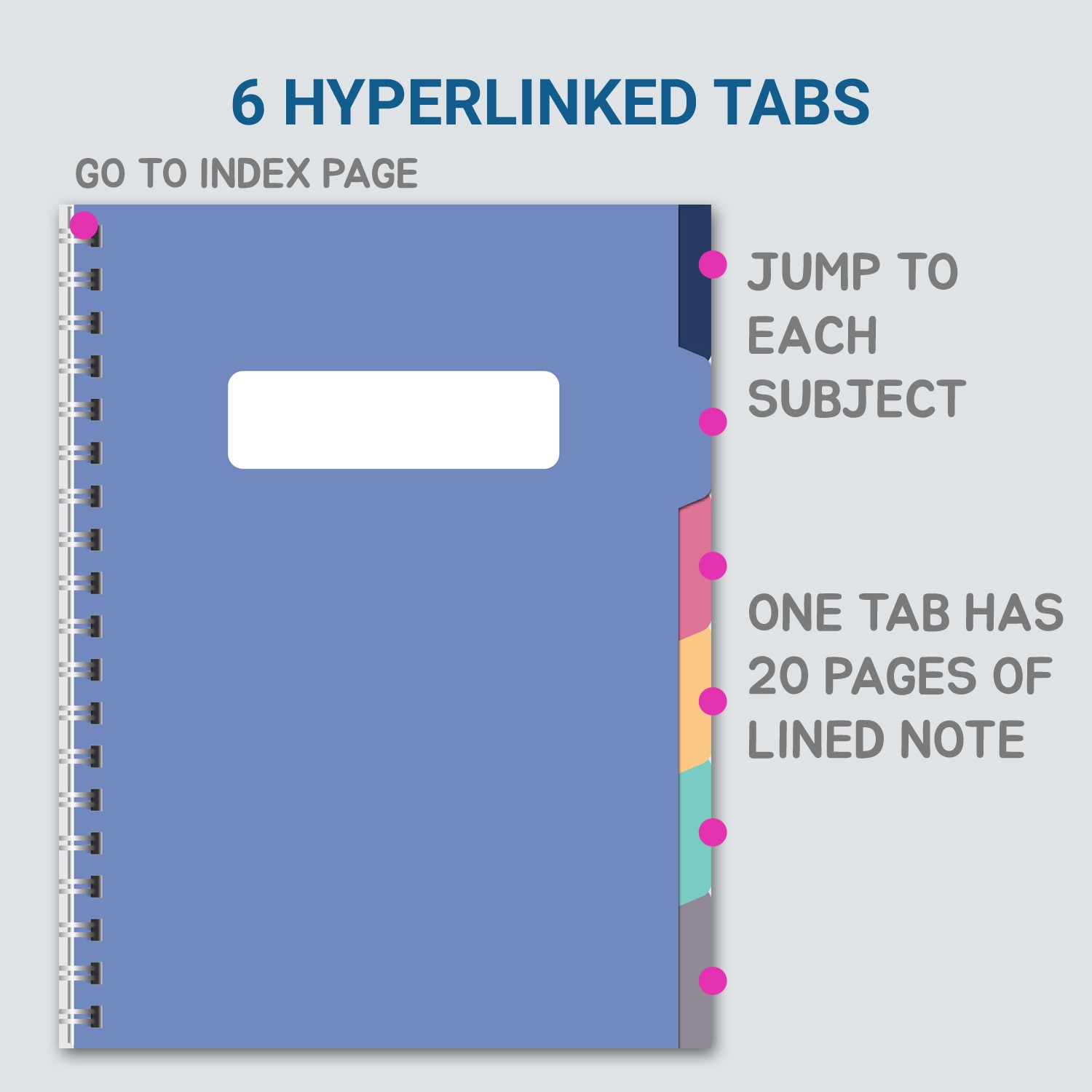 Digital notebook pdf with hyperlinks