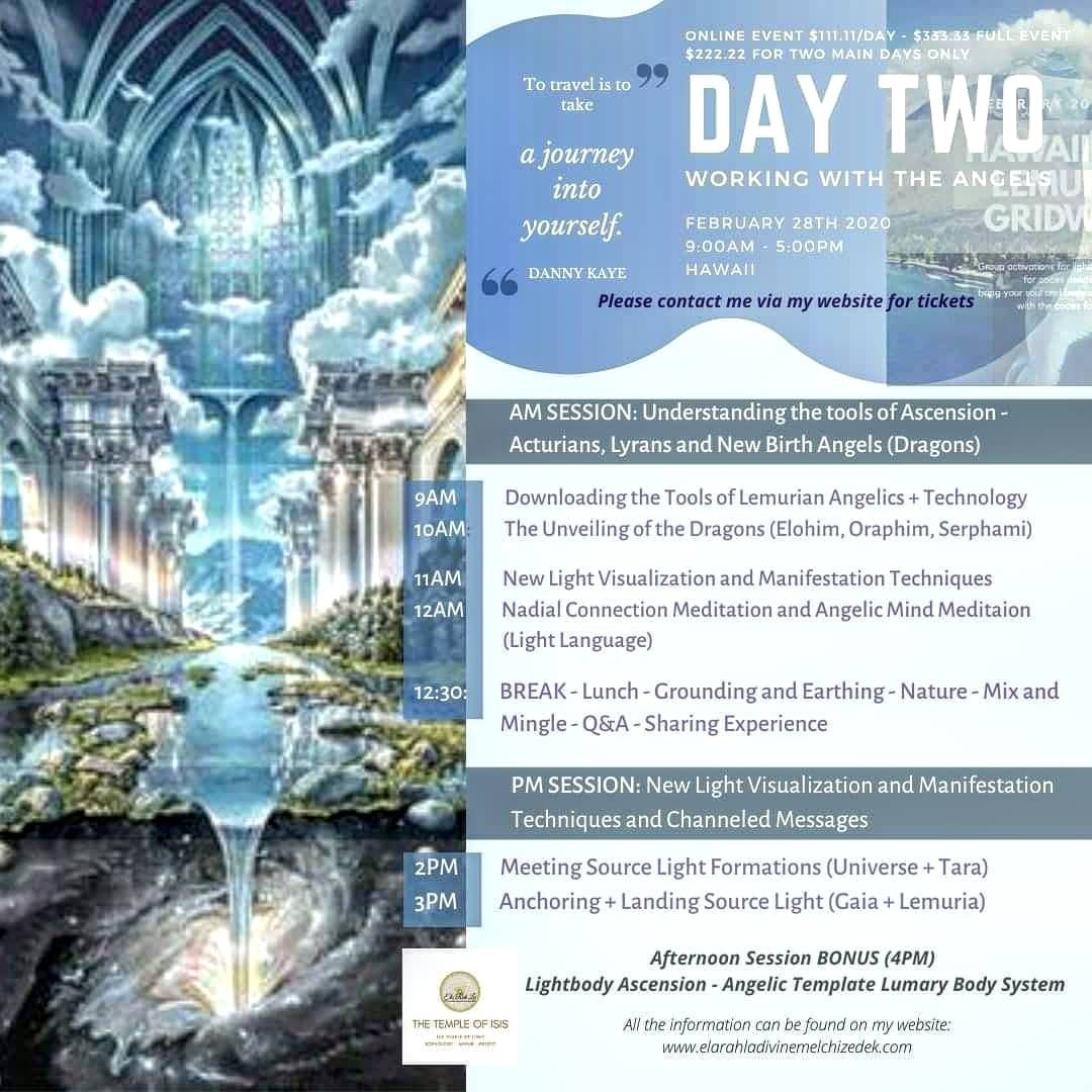 Lemurian Angelic Embodiment - Day Two: Working with the Angels (Full) [Streaming Option]