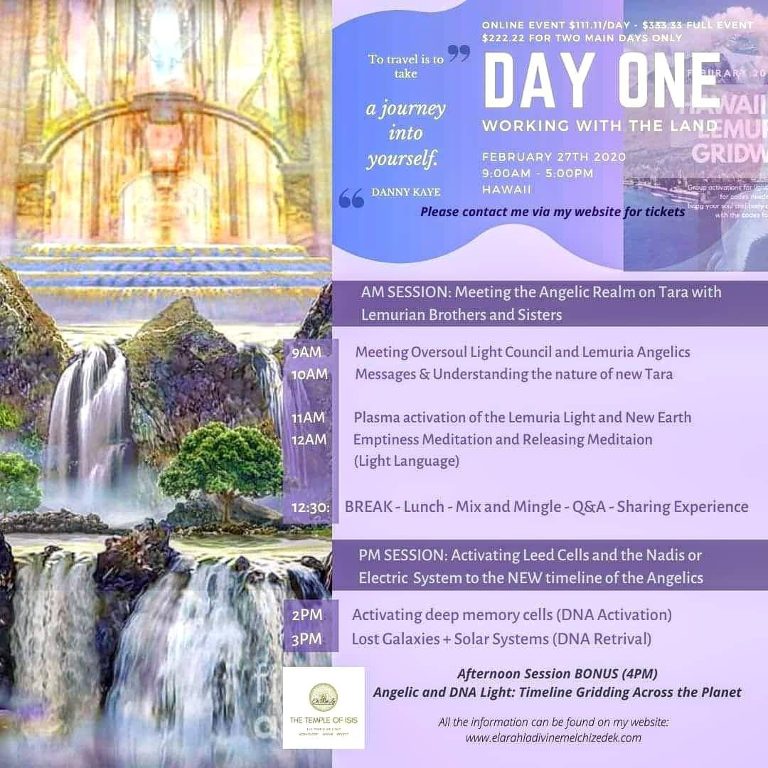 Lemuiran Angelic Embodiment: Day One - Working with the Land (Full) [Streaming Option
