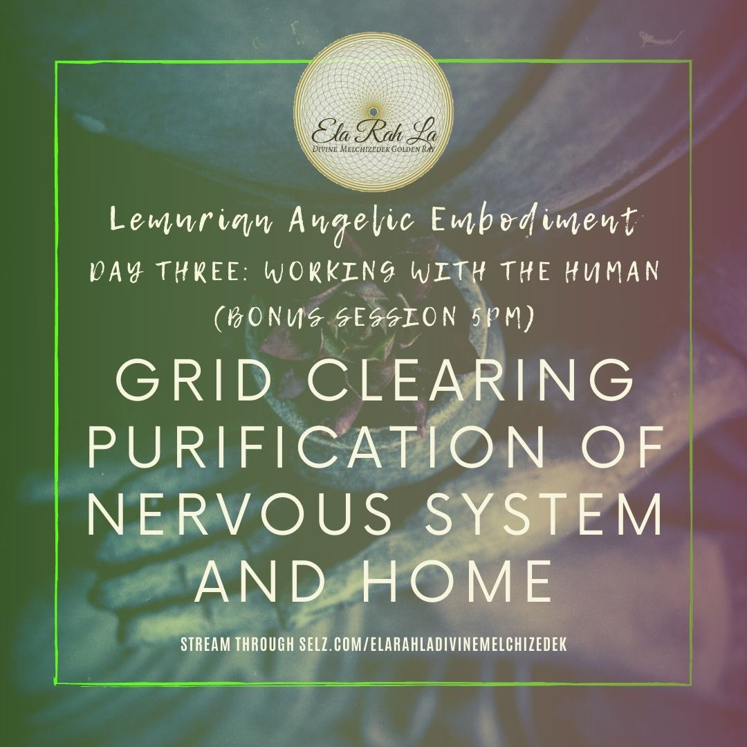 Grid Clearing Purification of Nervous System and Home (Lemurian Angelic Embodiment Hawaii 2020)