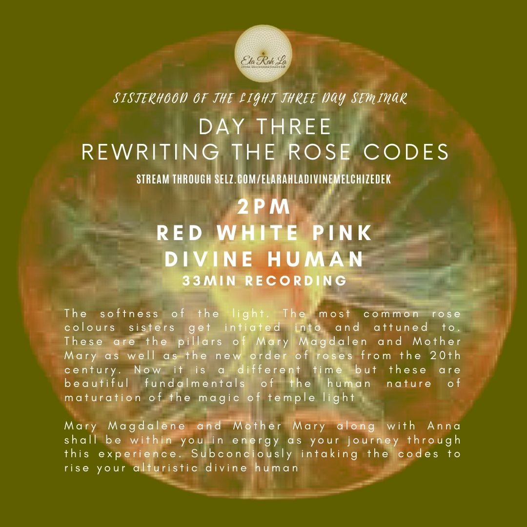 [Red White Pink] Divine Human (Sisterhood of the Light Conference 2020)