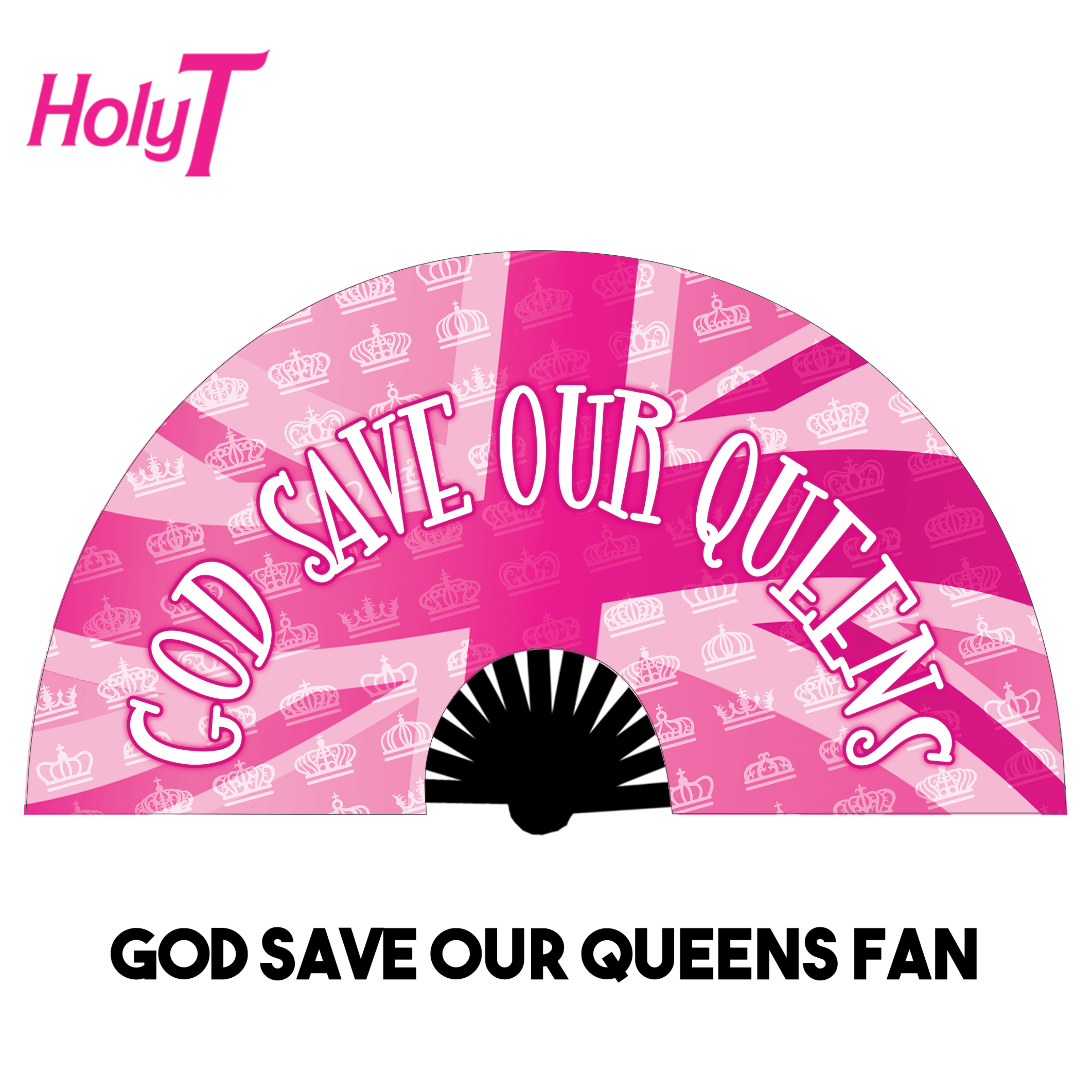 God Save Our Queens Large Fan