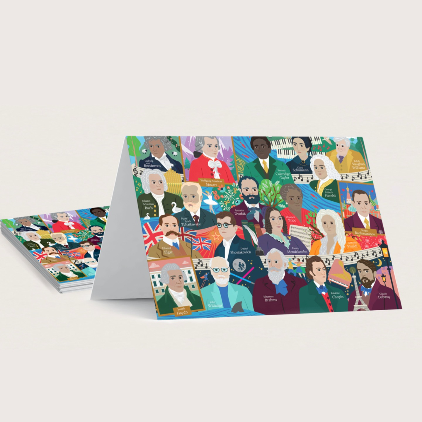 Great Composers Greeting Cards (Pack of 10)