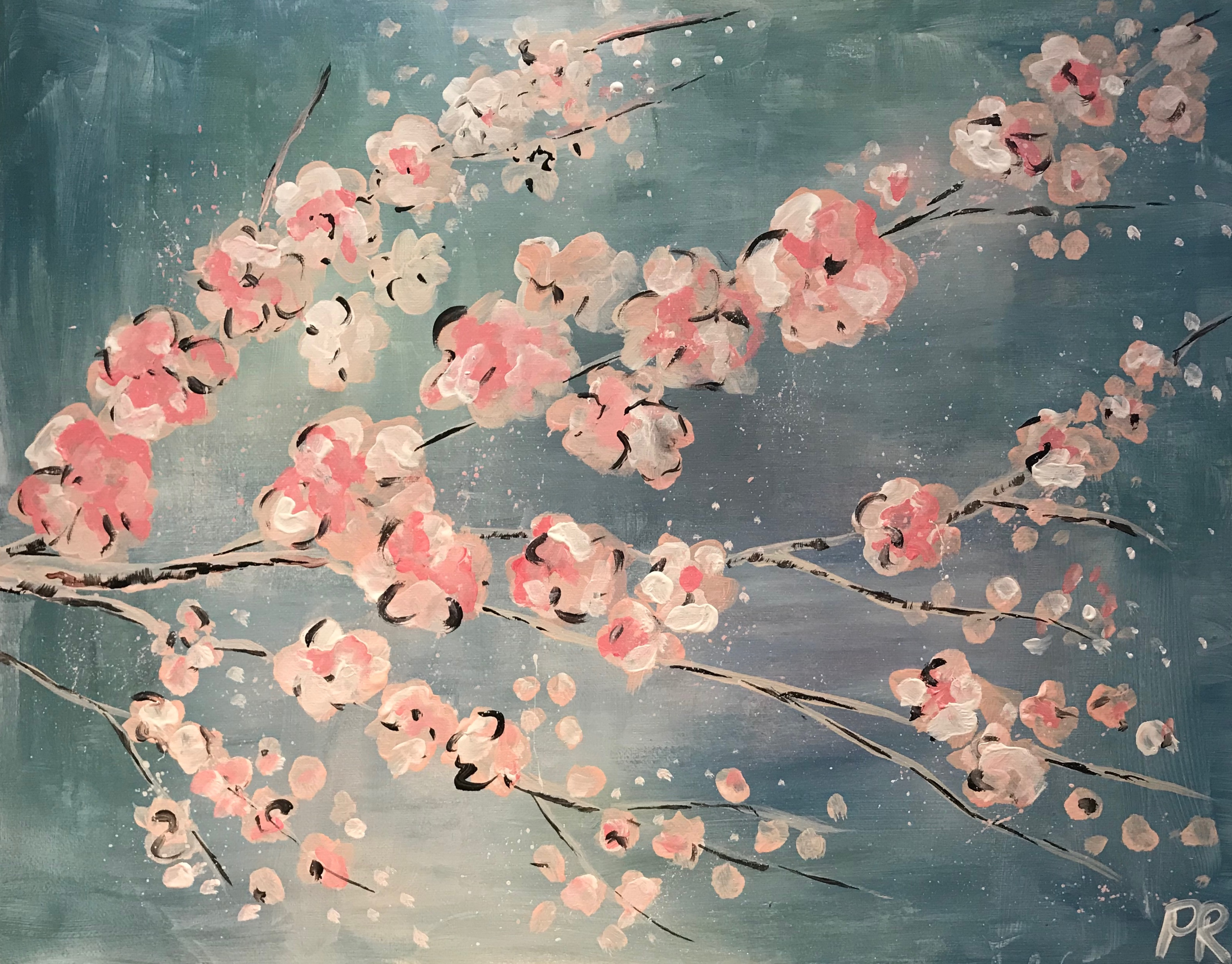 29/5/2020 Live Recording Paint & Sip - Japanese Blossom with Lindsay