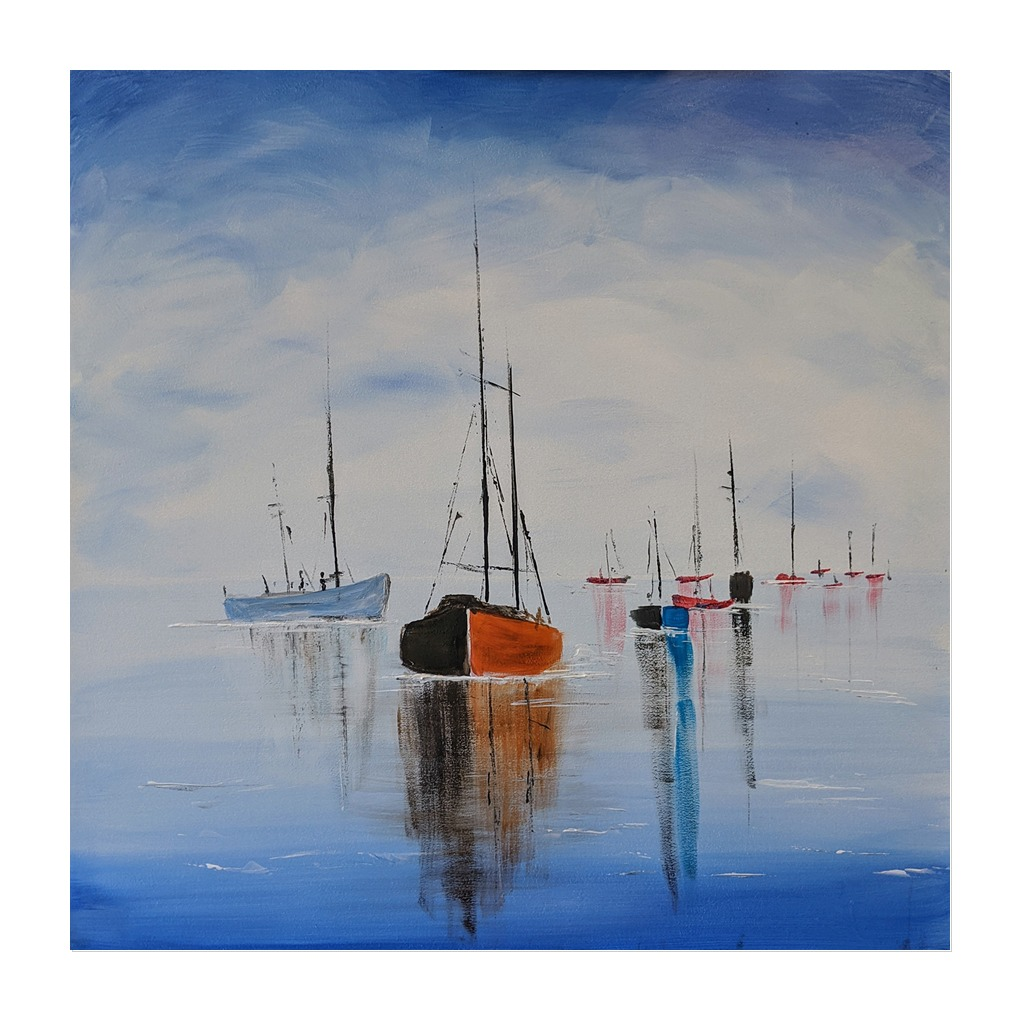 #222 17th August 7pm - PAINTING & PROSECCO at Gallacher's Wine Merchants, Rugby - Boats