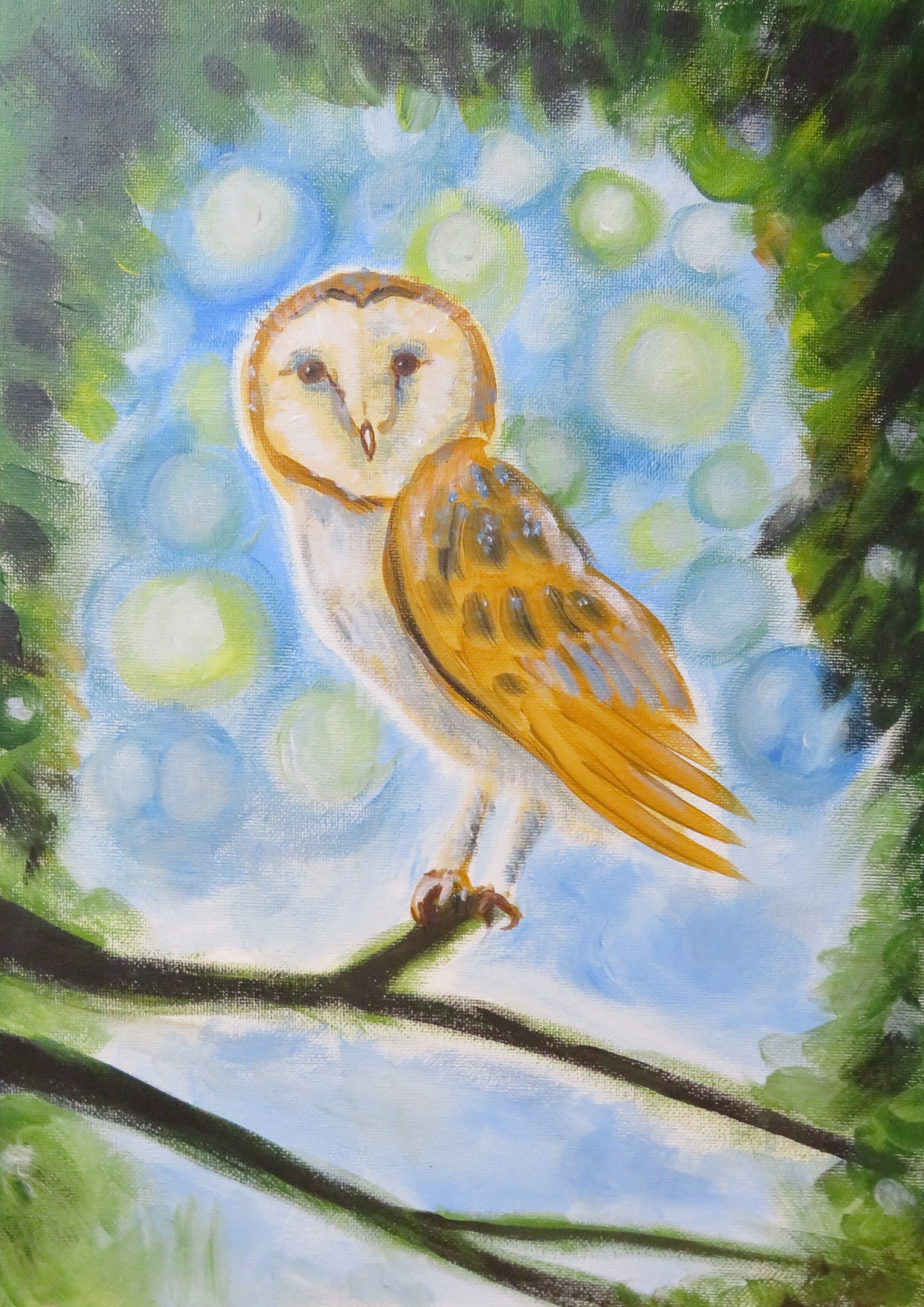 #183L 26th April 2021 7pm - nJoyArt ONLINE with LIZ - Barn Owl