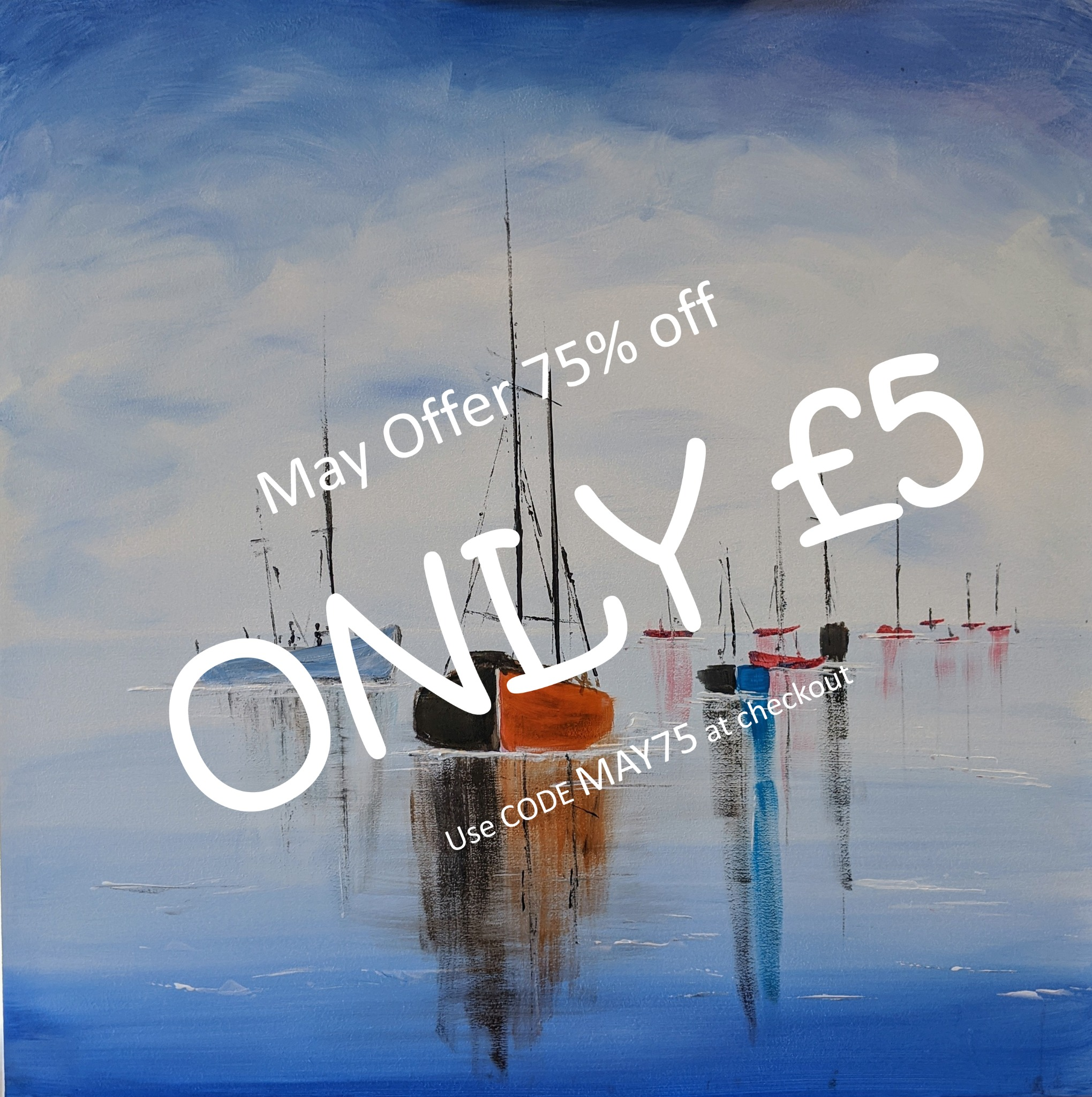 x 14th May 2020 7pm - Boats - nJoyArt ONLINE Live Session