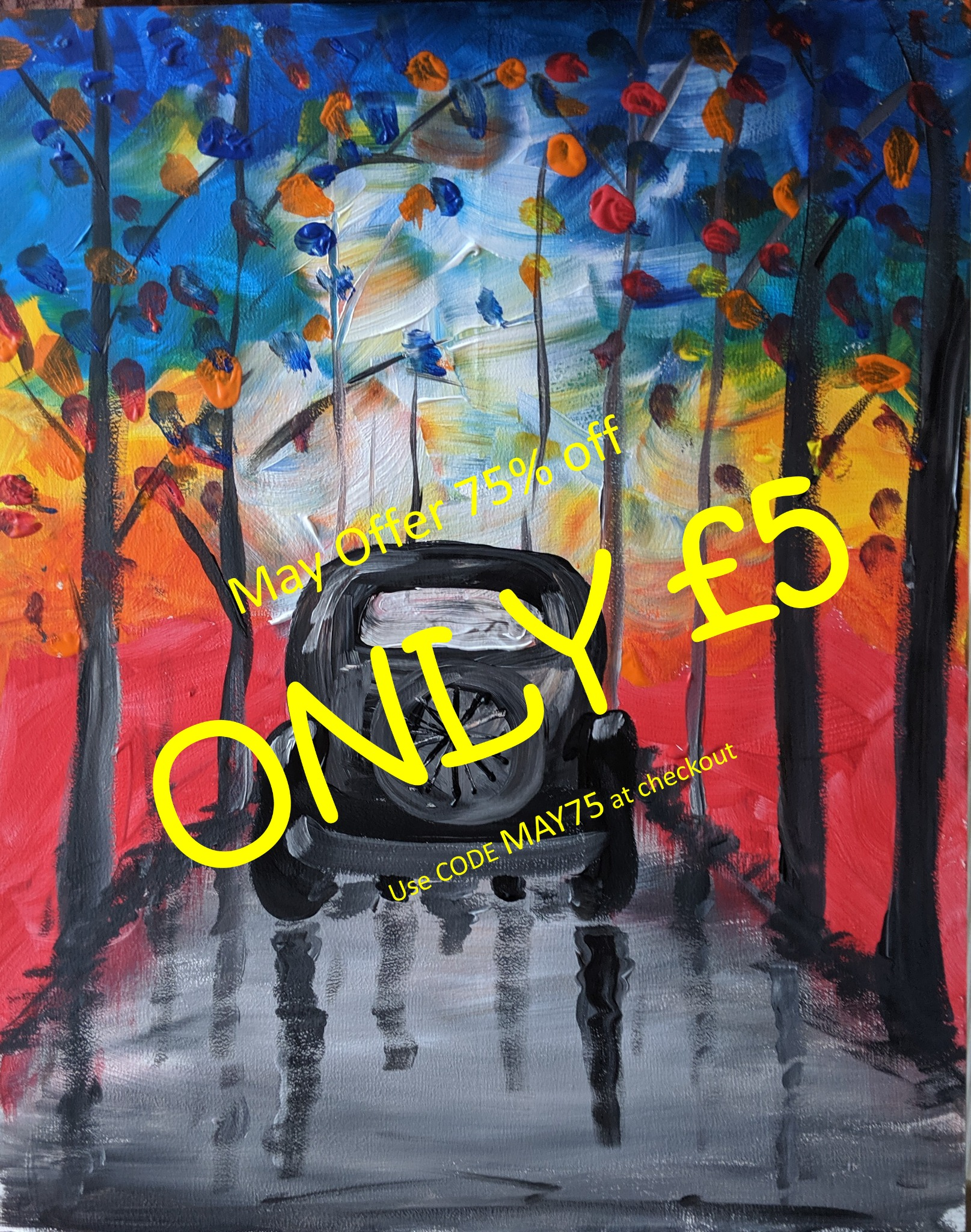 x 9th May 2020 10am - Quirky Car - nJoyArt ONLINE Live Session