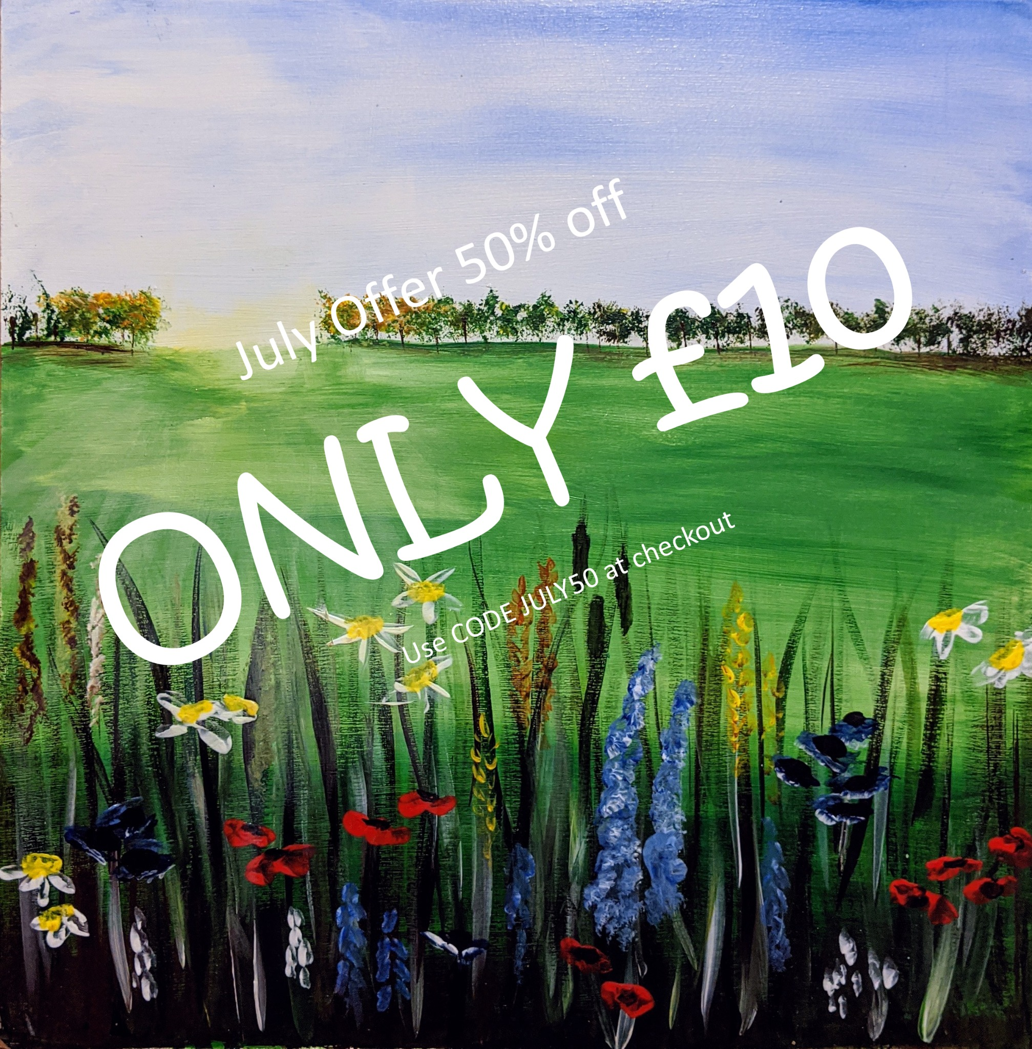 x 14th July 2020 7pm - Spring Meadow - nJoyArt ONLINE Live Session