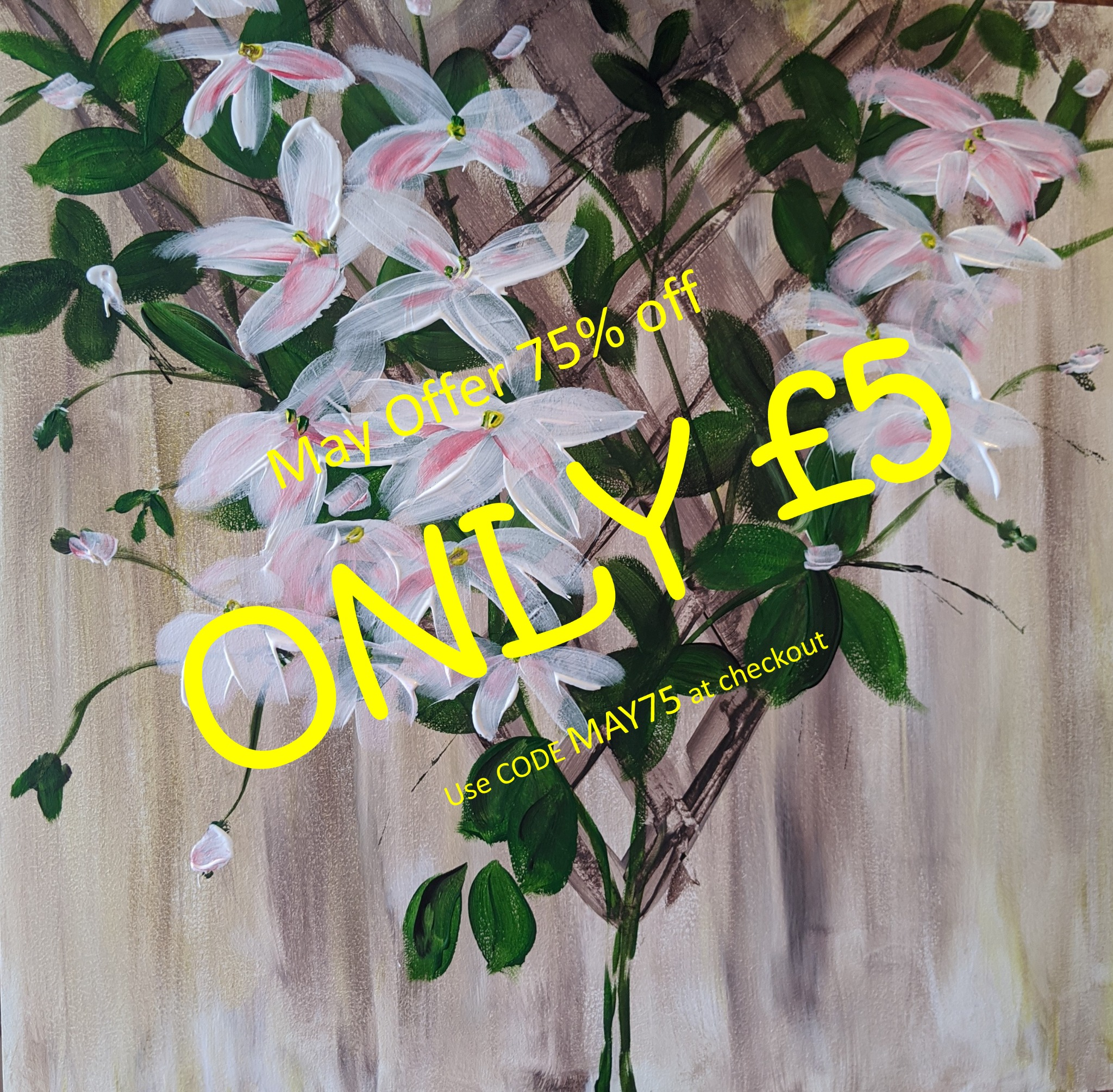 x 16th May 2020 10am - Clematis - nJoyArt ONLINE Live Session