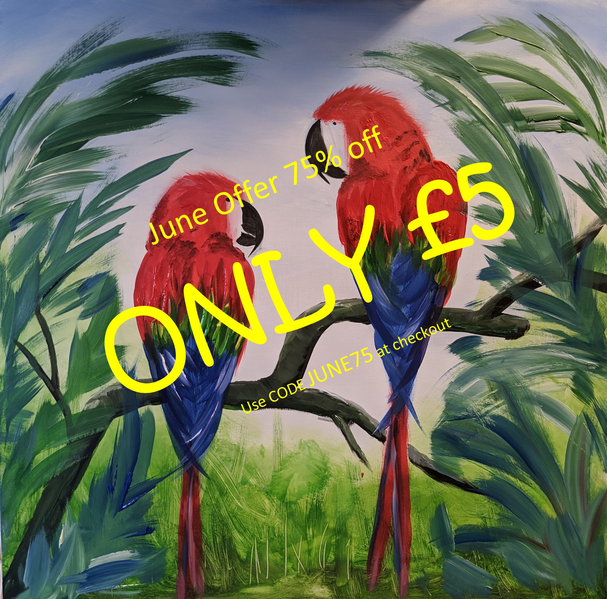 x 30th June 2020 7pm - Mr and Mrs Macaw - nJoyArt ONLINE Live Session