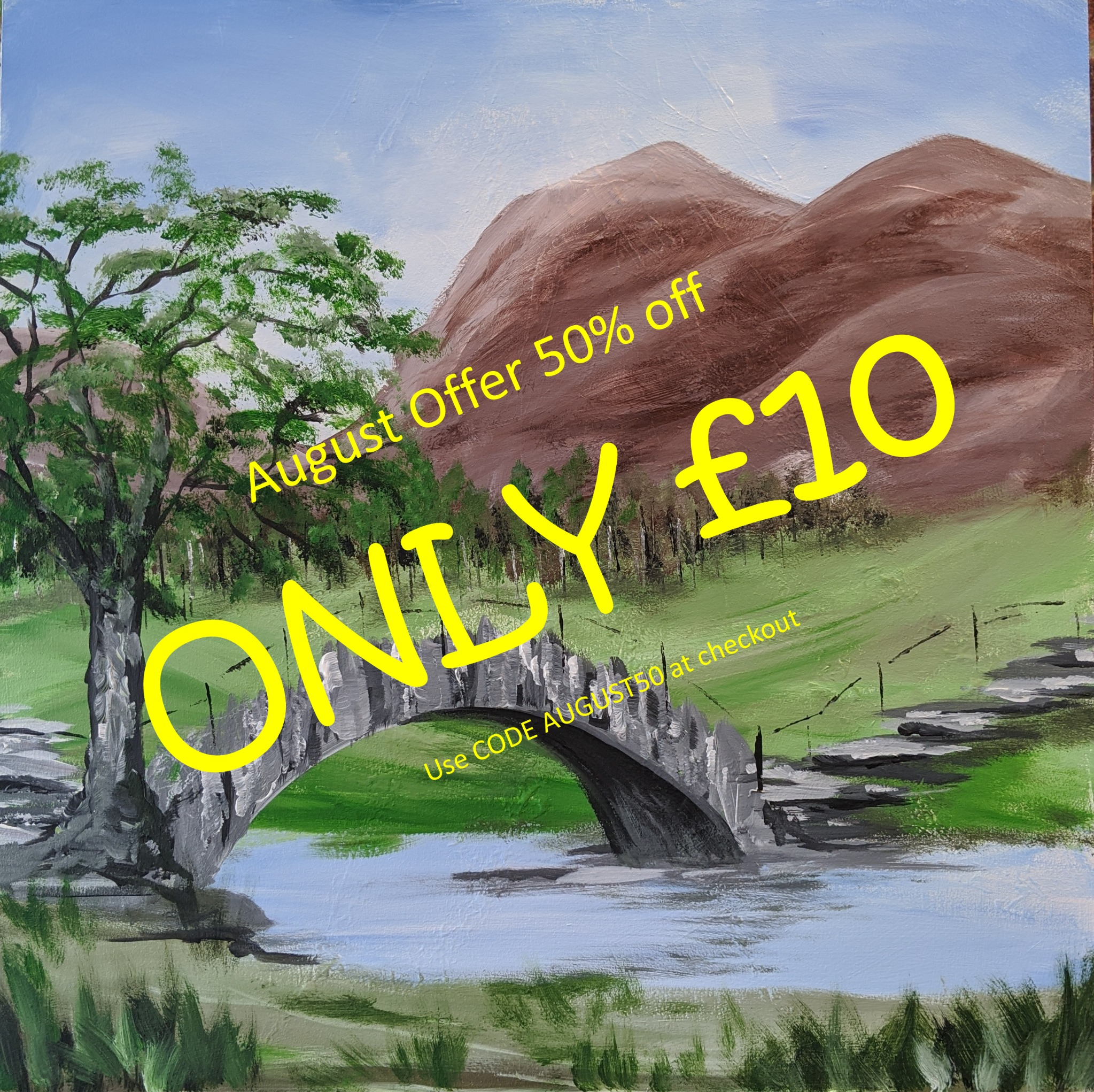 25th August  2020 7pm - Slate Bridge - nJoyArt ONLINE Live Session