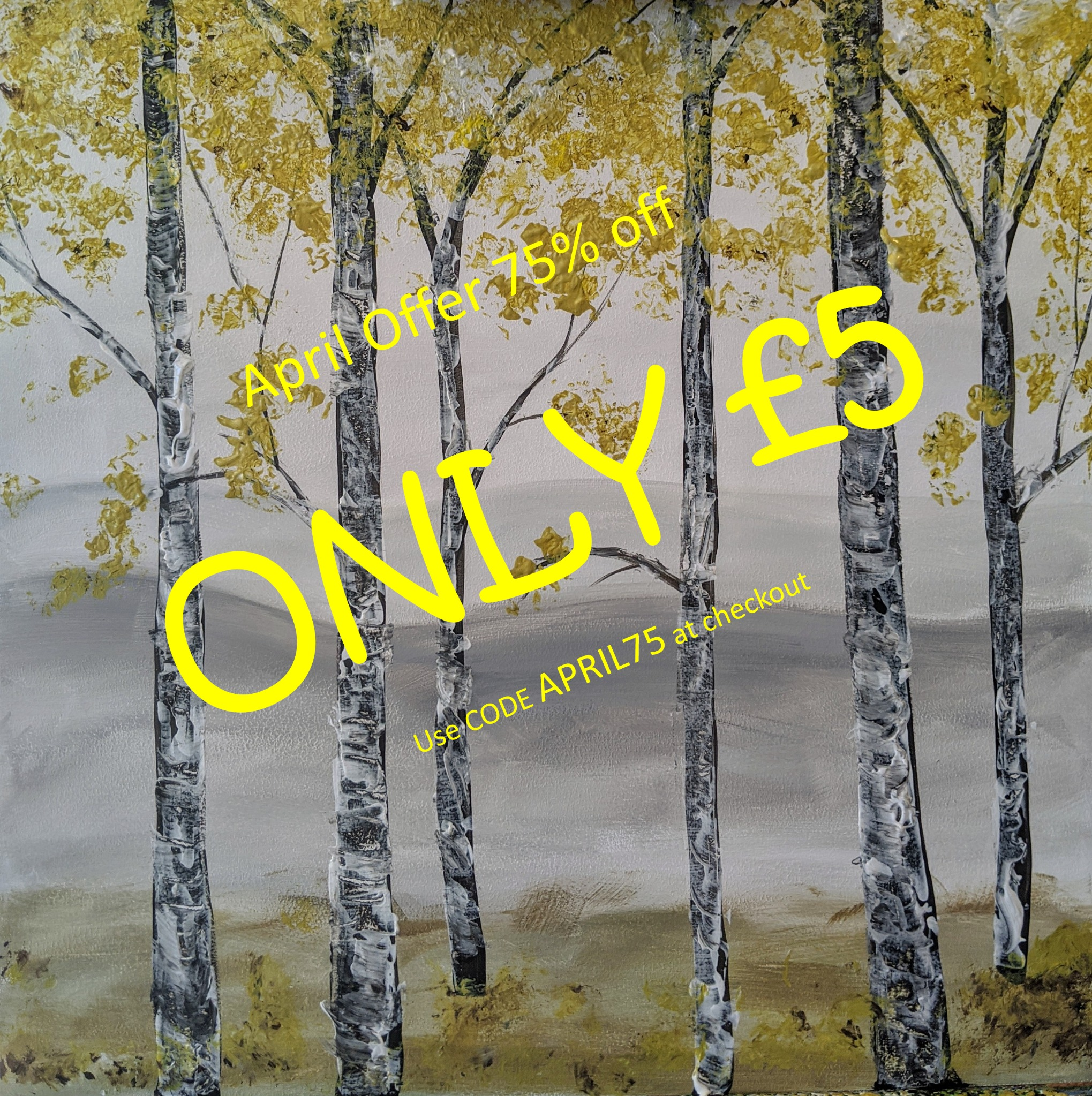 x 16th April 2020 7pm - Silver Birch - nJoyArt ONLINE Live Session
