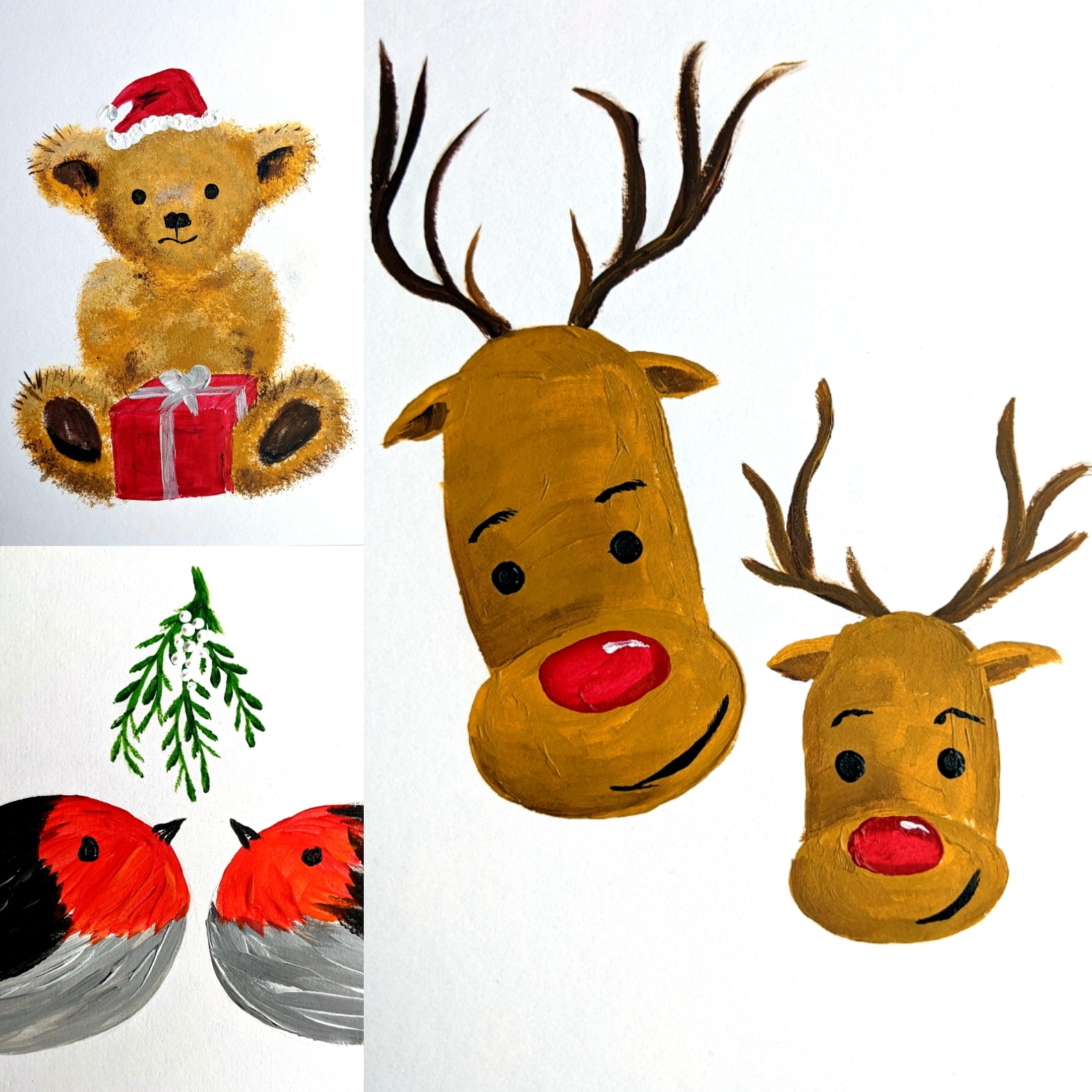 #128 - 24th November 2020 7pm - Christmas Card Collection - Rudolph & Friends - nJoyArt ONLINE