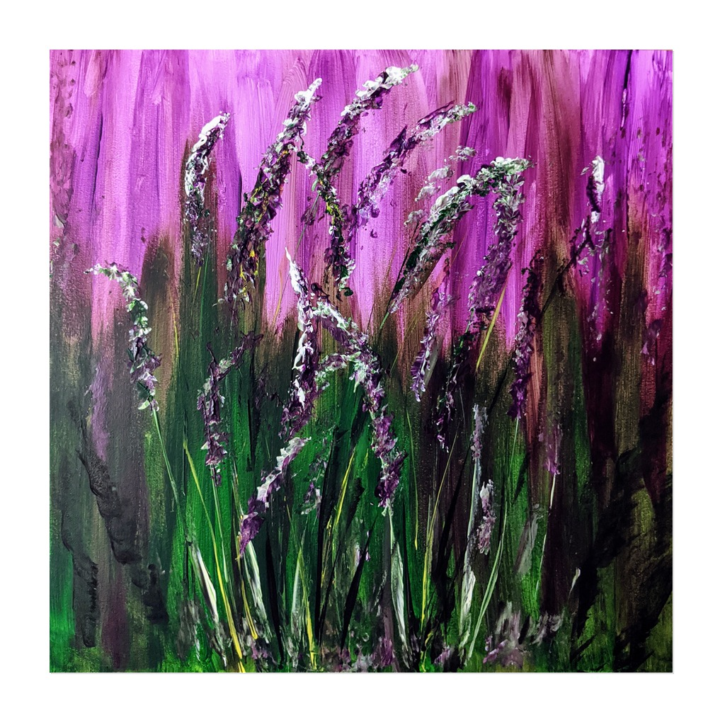 #186 - 4th May 2021 7pm - Lavender - nJoyArt ONLINE Painting Session