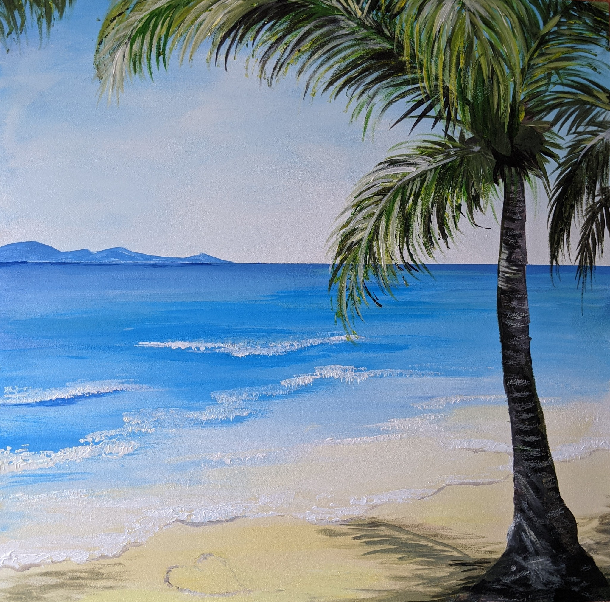 x #116 - 2nd October 2020 7pm - Palm Beach - nJoyArt ONLINE Painting Session