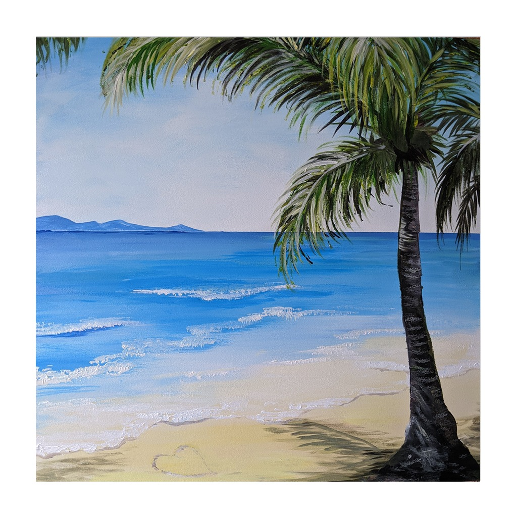 #184 - 29th April 2021 7pm - Palm Beach - nJoyArt ONLINE Painting Session