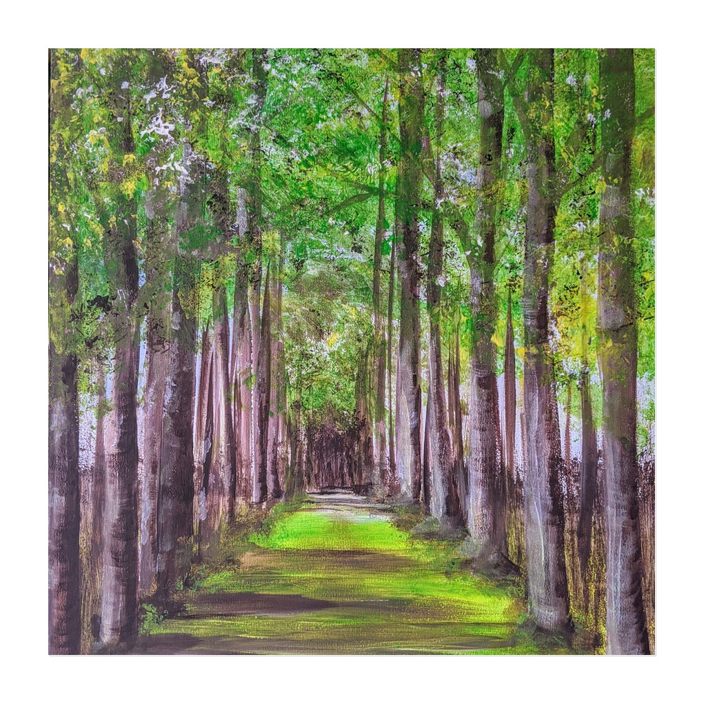 #221 - Thurs 12th August 2021 (7pm) - Acrylic - 'Avenue of Trees' .